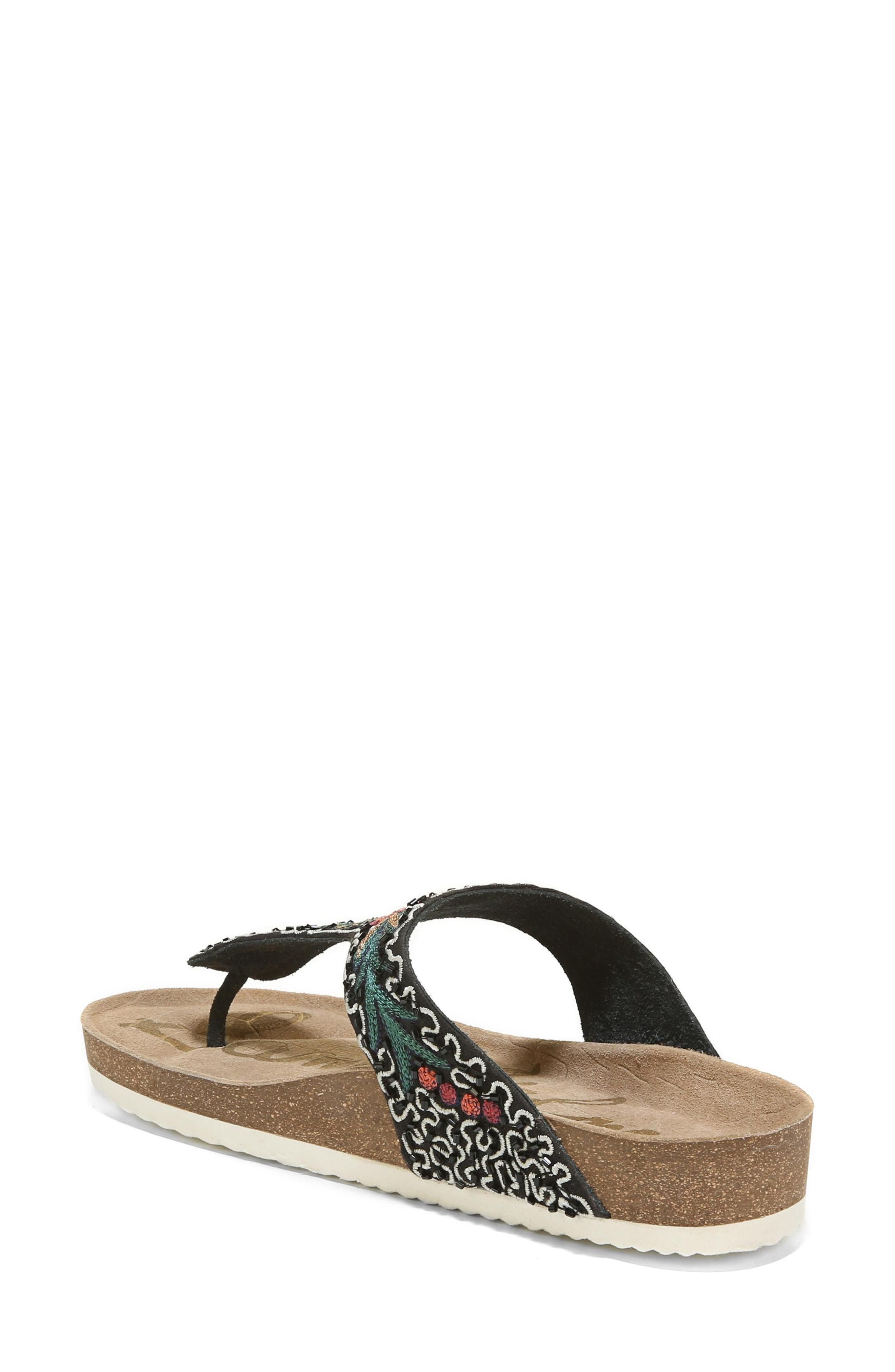 Olivie Beaded Flip Flop,                             Alternate thumbnail 2, color,                             001
