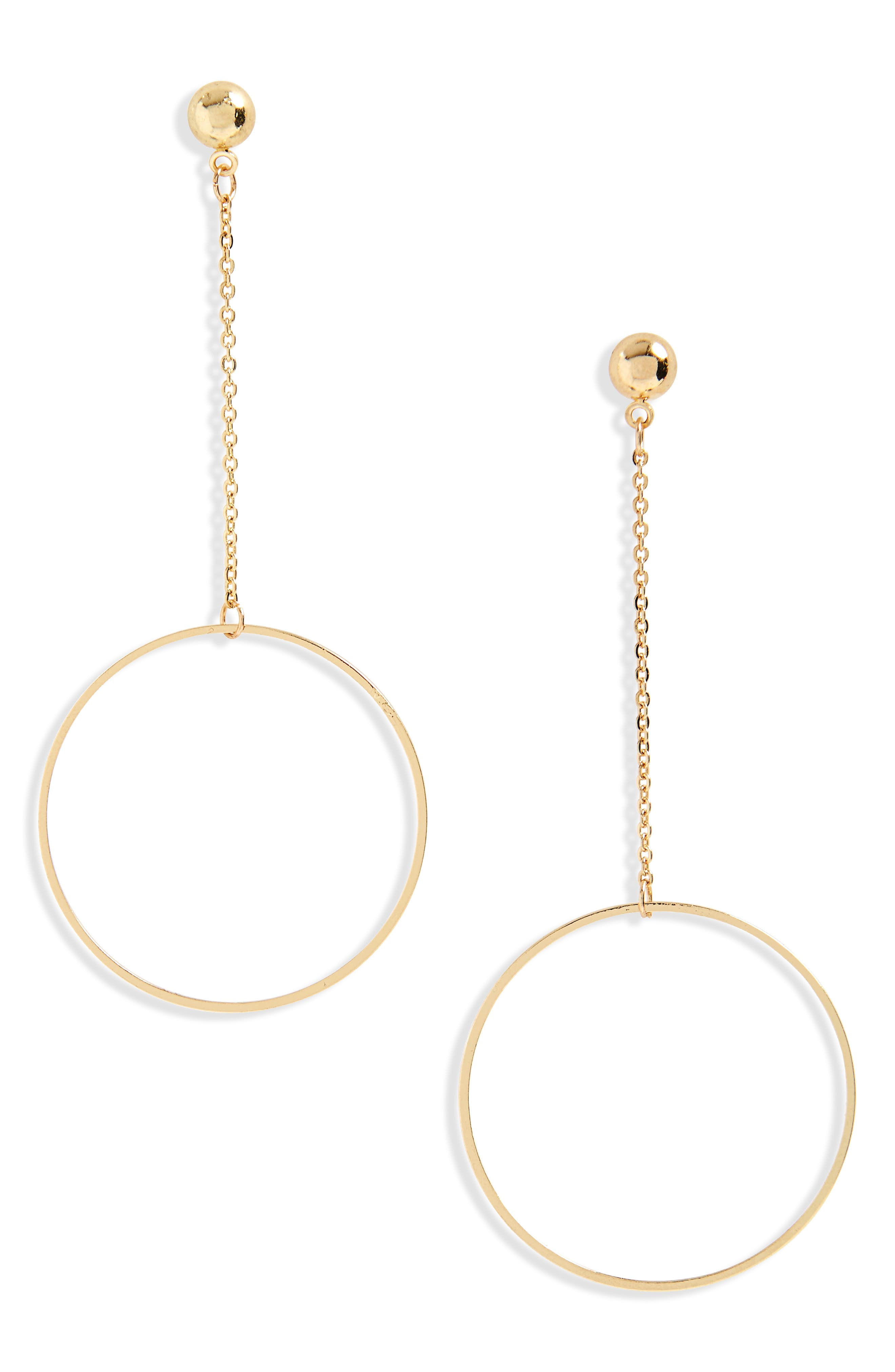 Circle & Chain Drop Earrings,                             Main thumbnail 1, color,