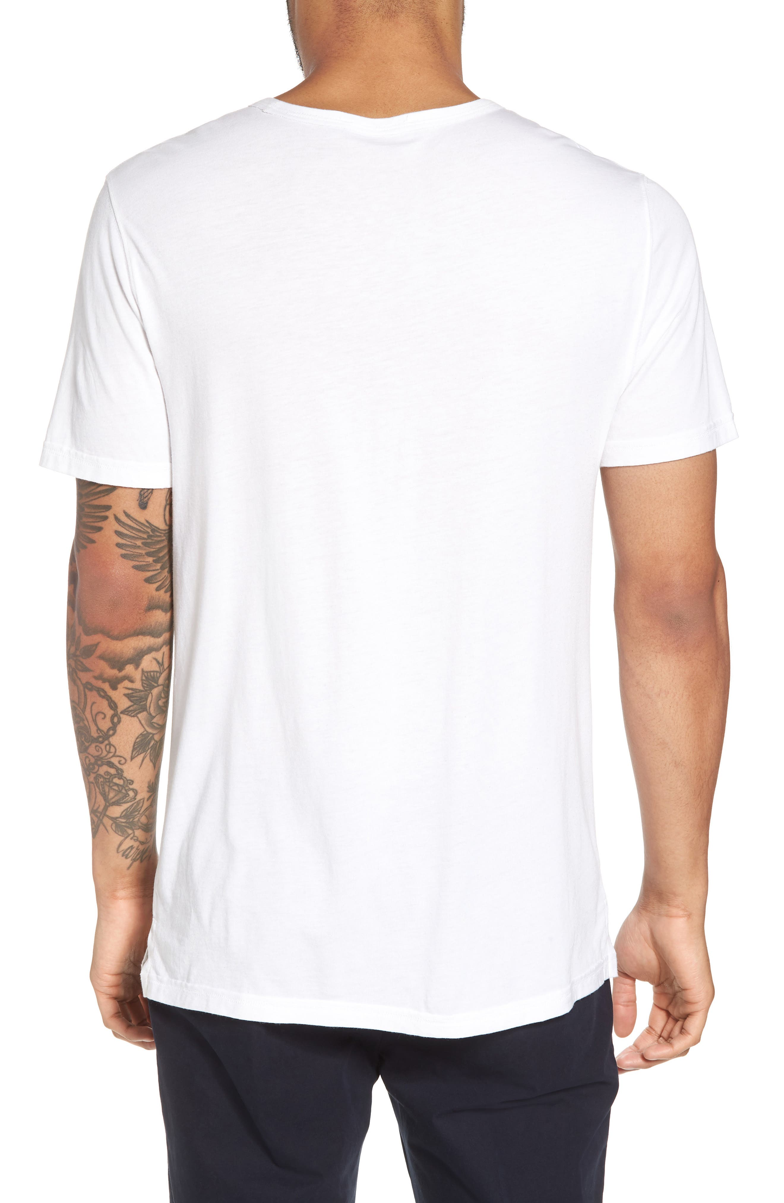 VINCE,                             Reverse Hem Slim Fit T-Shirt,                             Alternate thumbnail 2, color,                             100