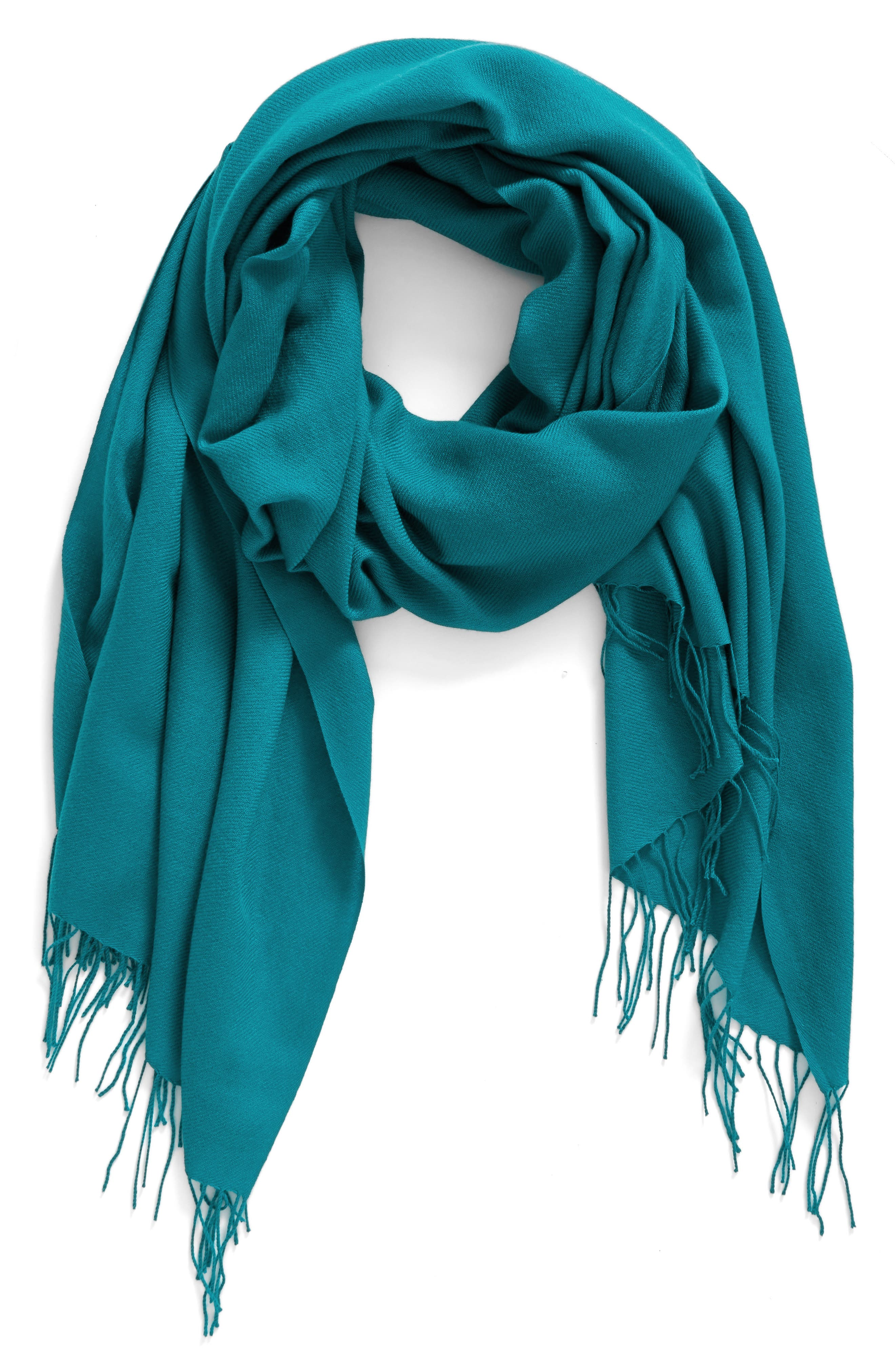 Tissue Weight Wool & Cashmere Scarf,                             Alternate thumbnail 177, color,