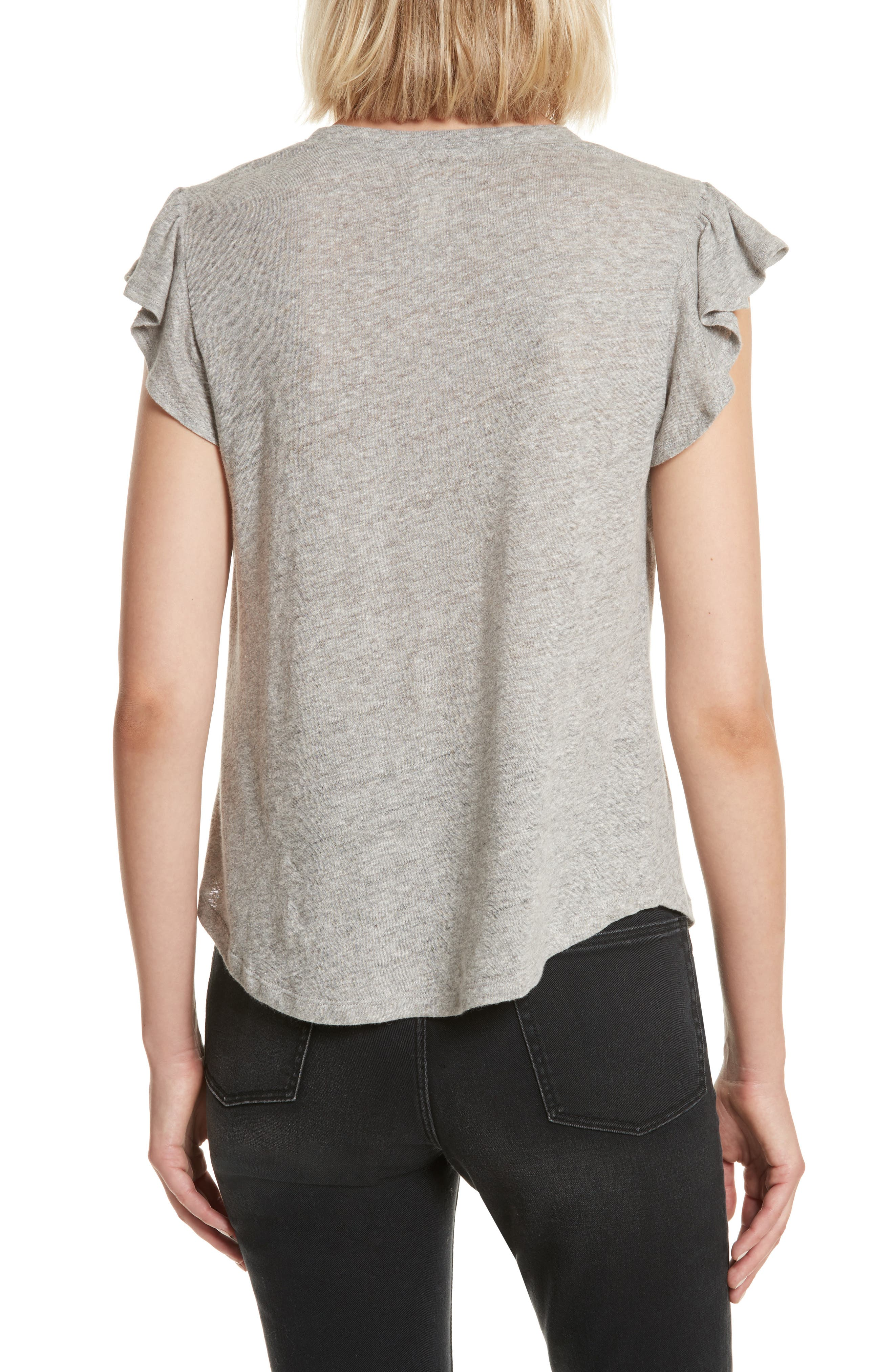 Washed Texture Jersey Tee,                             Alternate thumbnail 2, color,                             GREY HEATHER