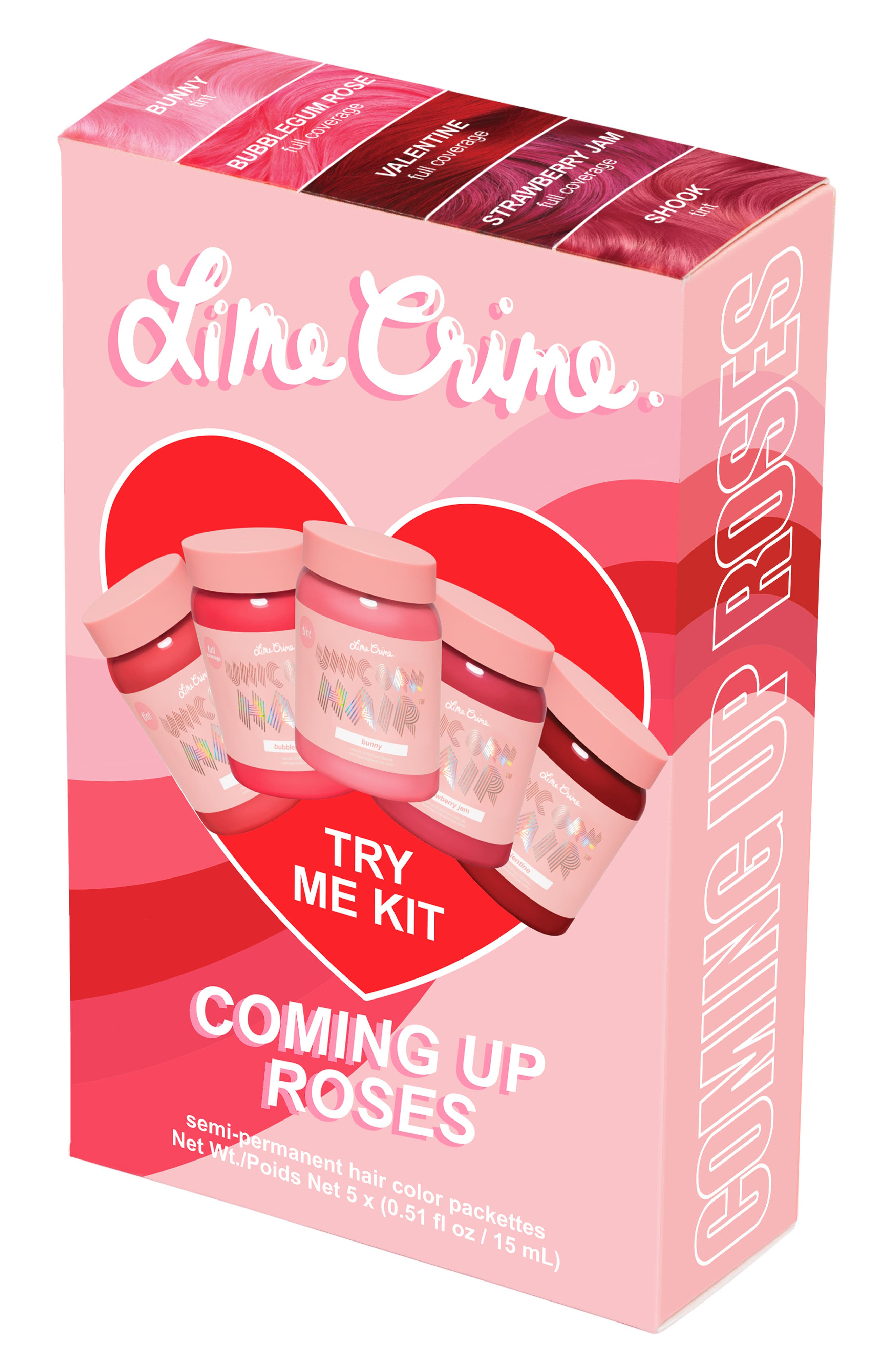 LIME CRIME,                             Coming Up Roses Unicorn Hair Try Me Kit,                             Alternate thumbnail 2, color,                             COMING UP ROSES