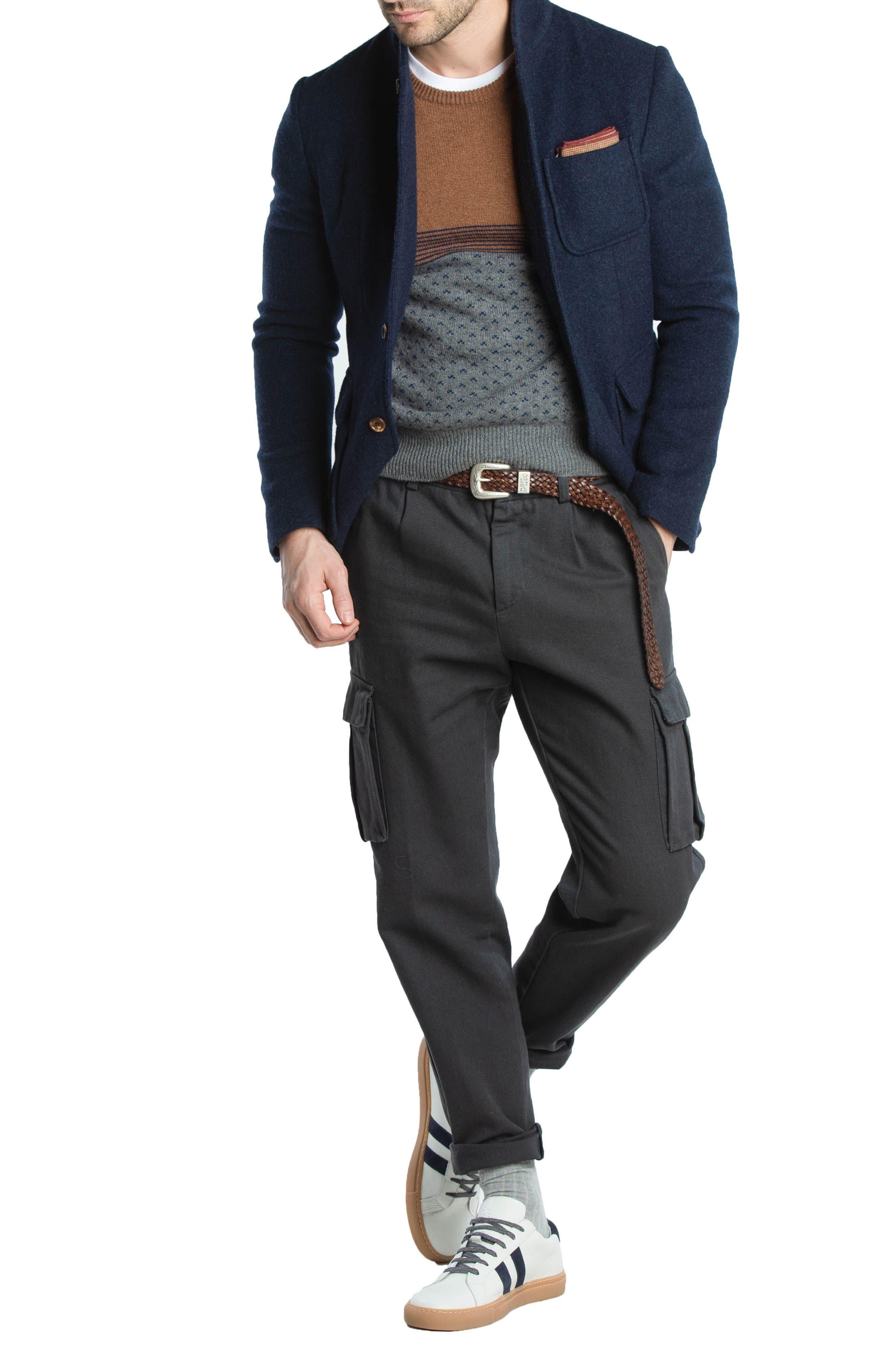 Trim Fit Cashmere Sweater,                             Alternate thumbnail 8, color,                             GREY