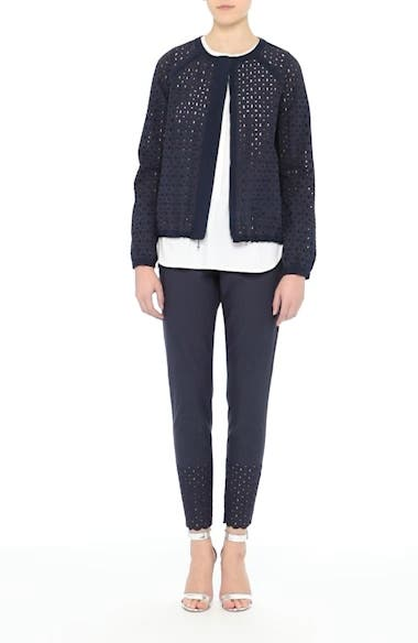Stretch Cotton Eyelet Jacket, video thumbnail