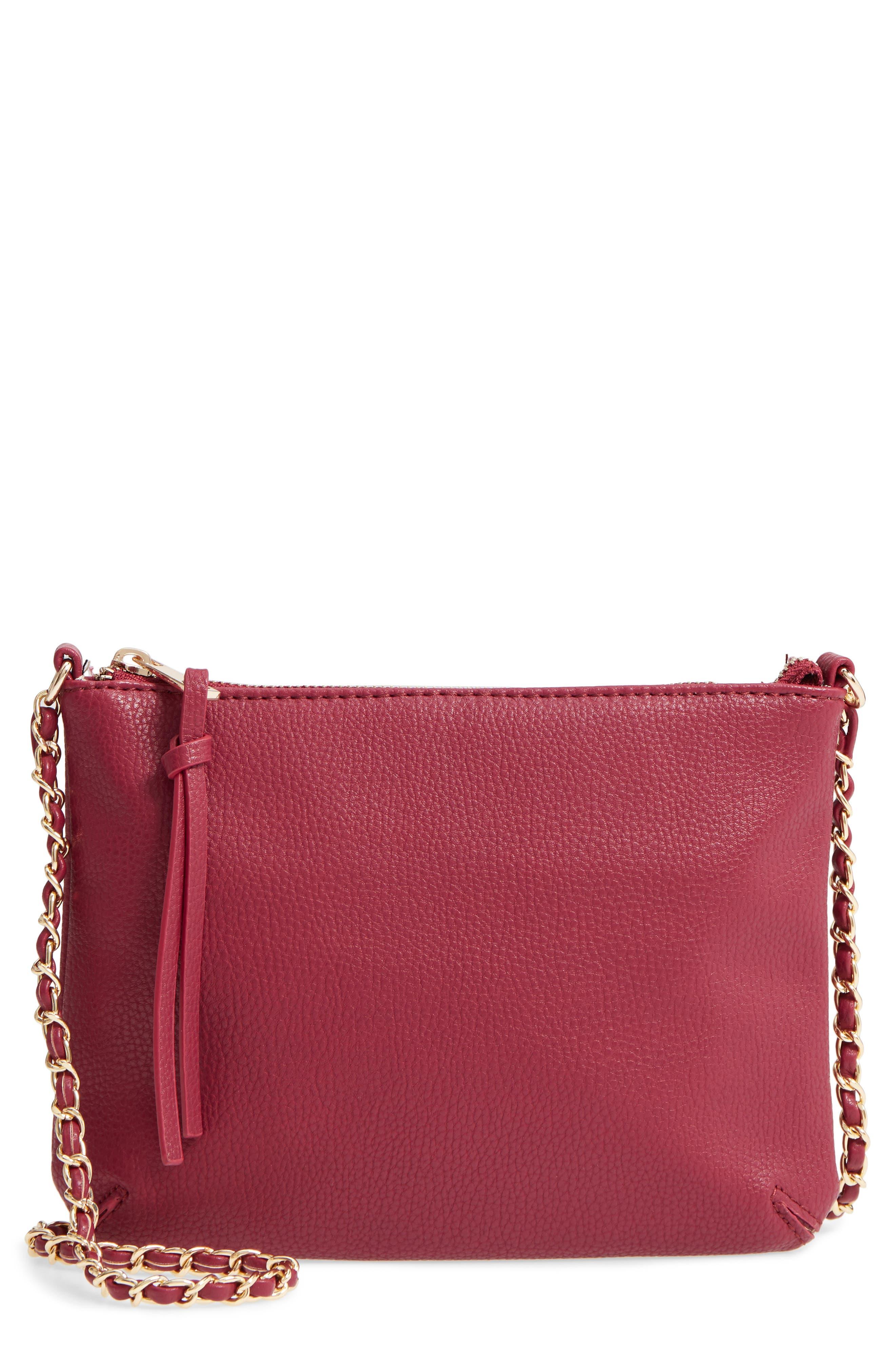 Faux Leather Crossbody Bag,                             Main thumbnail 2, color,