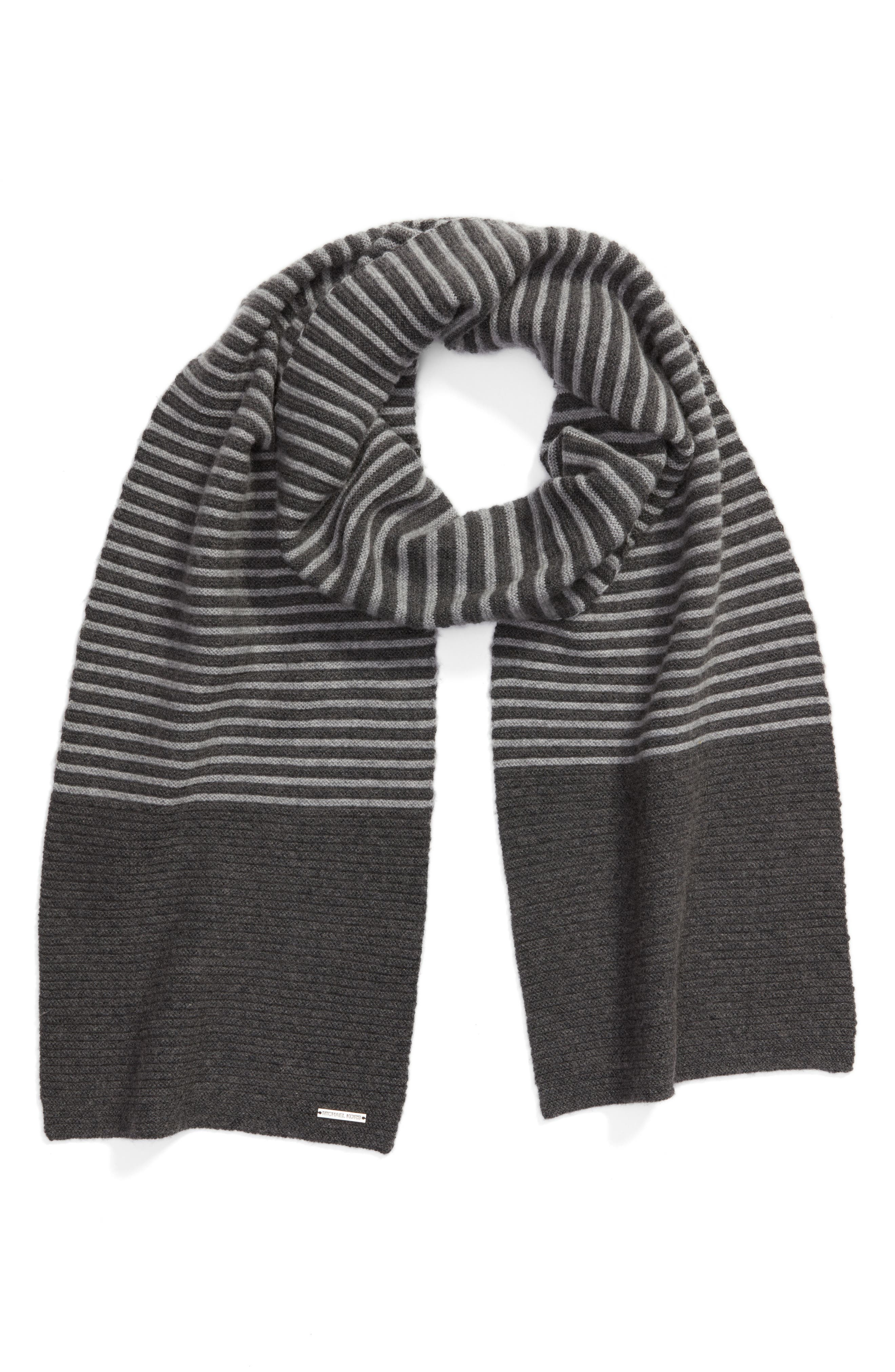 Double Links Wool & Cashmere Scarf,                             Alternate thumbnail 5, color,