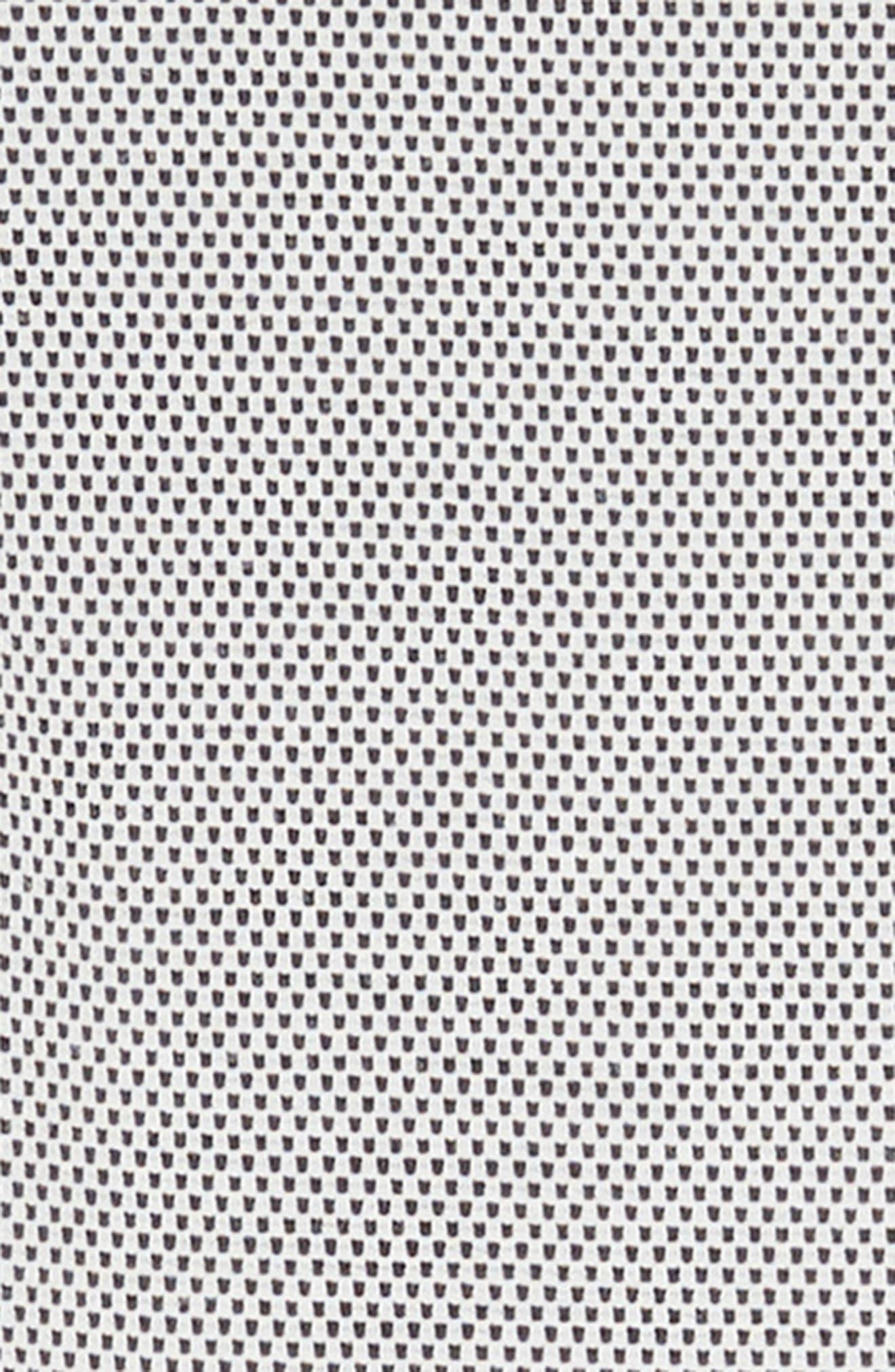 Birdseye Scuba Skater Dress,                             Alternate thumbnail 3, color,                             001