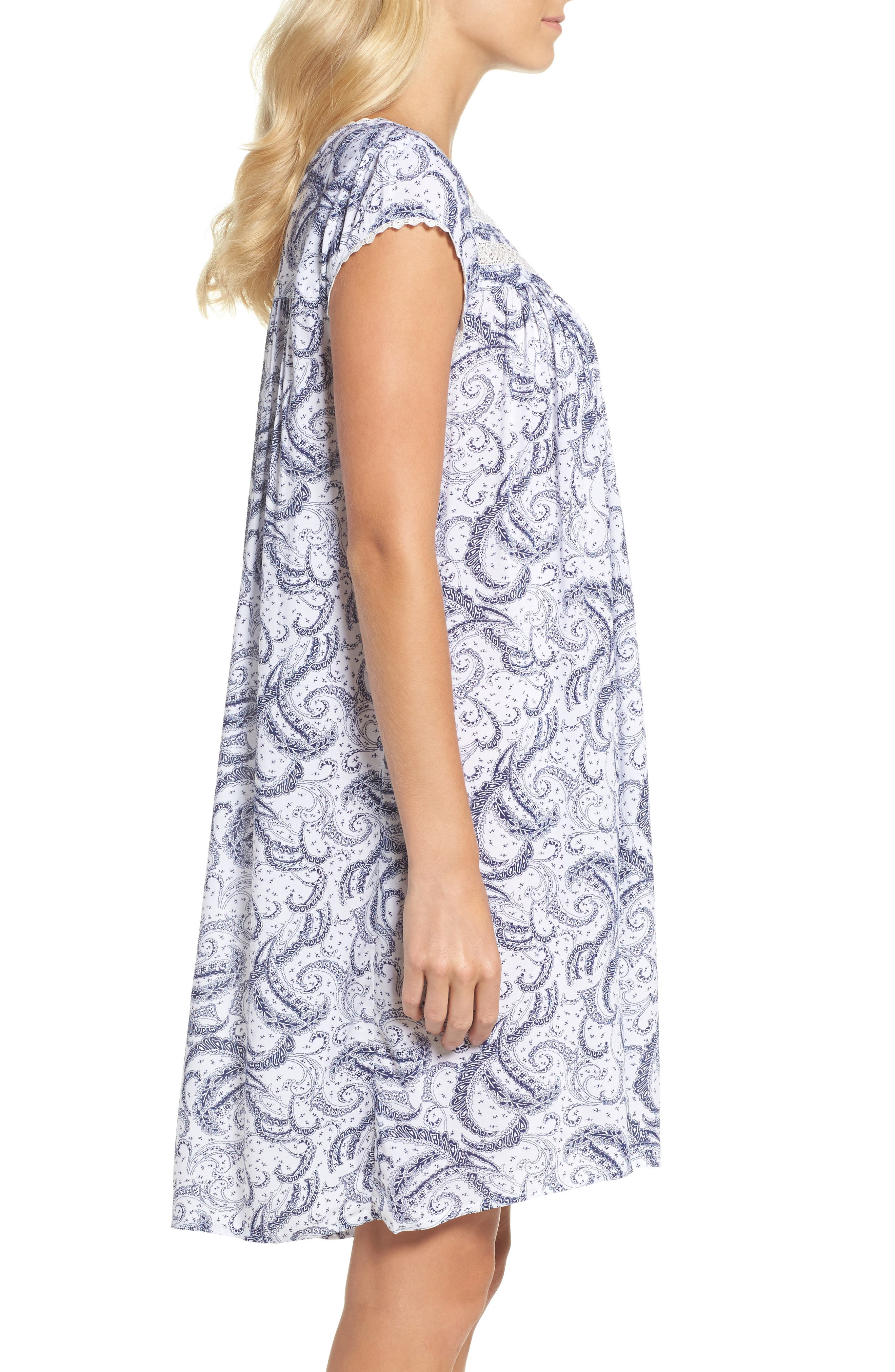 Short Nightgown,                             Alternate thumbnail 3, color,                             100