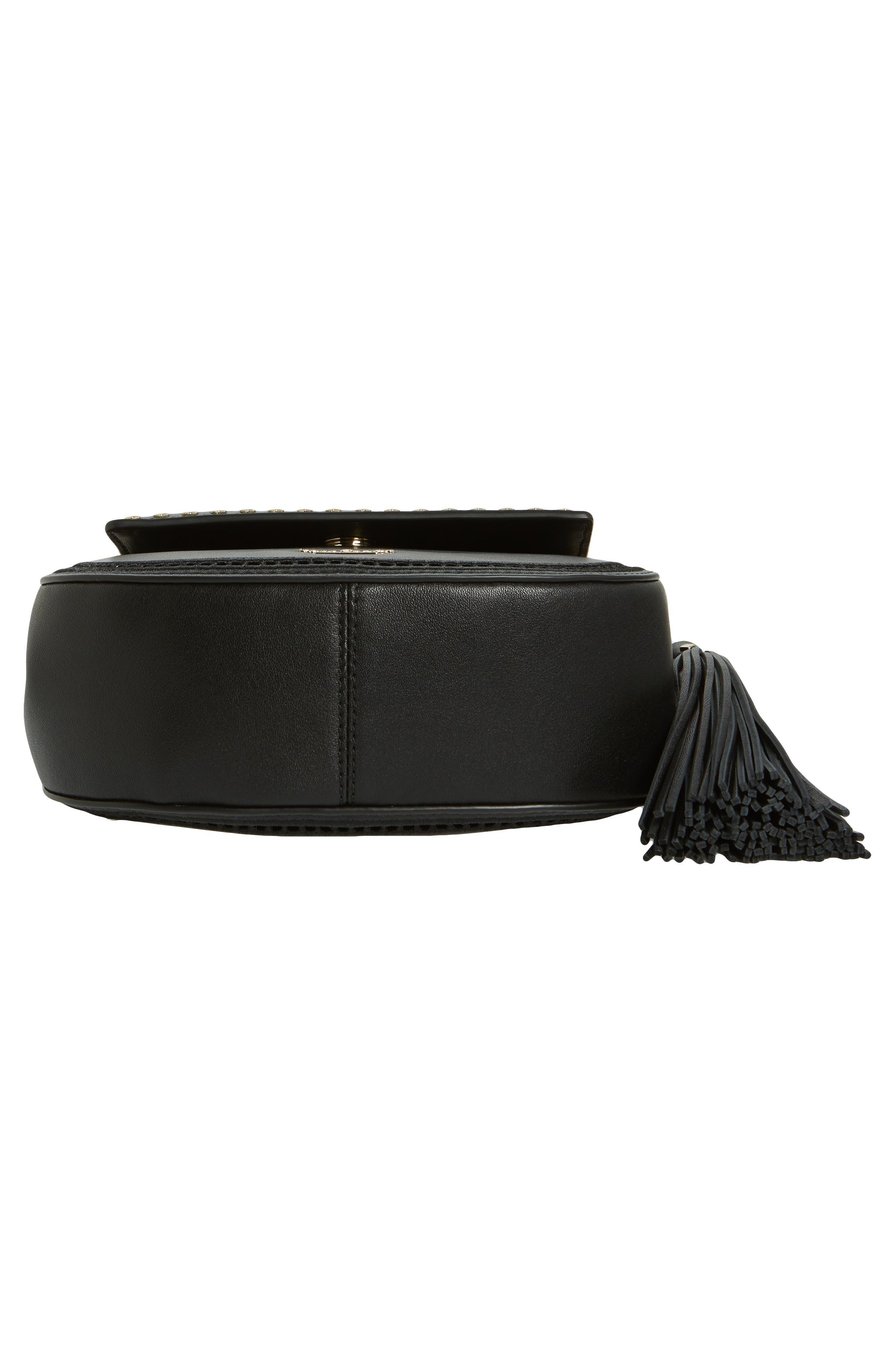 basset lane - small emaline leather crossbody bag,                             Alternate thumbnail 6, color,                             001