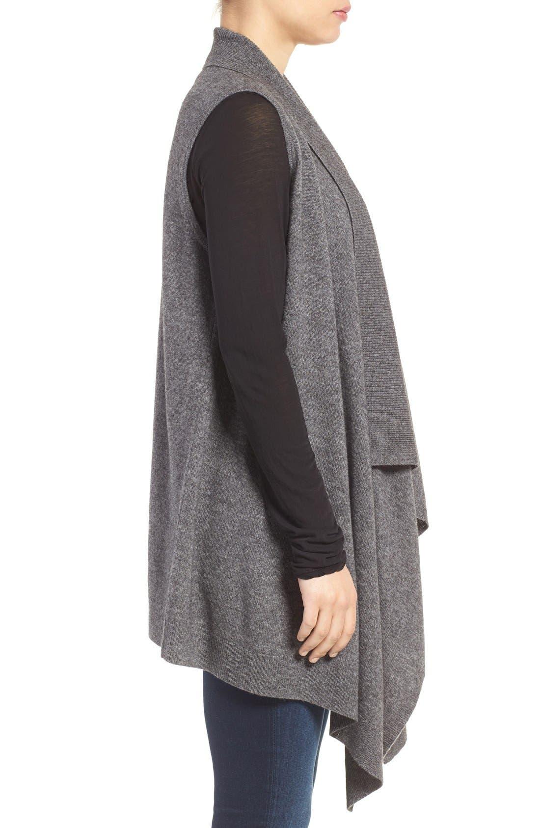 Wool & Cashmere Drape Front Sweater Vest,                             Alternate thumbnail 49, color,