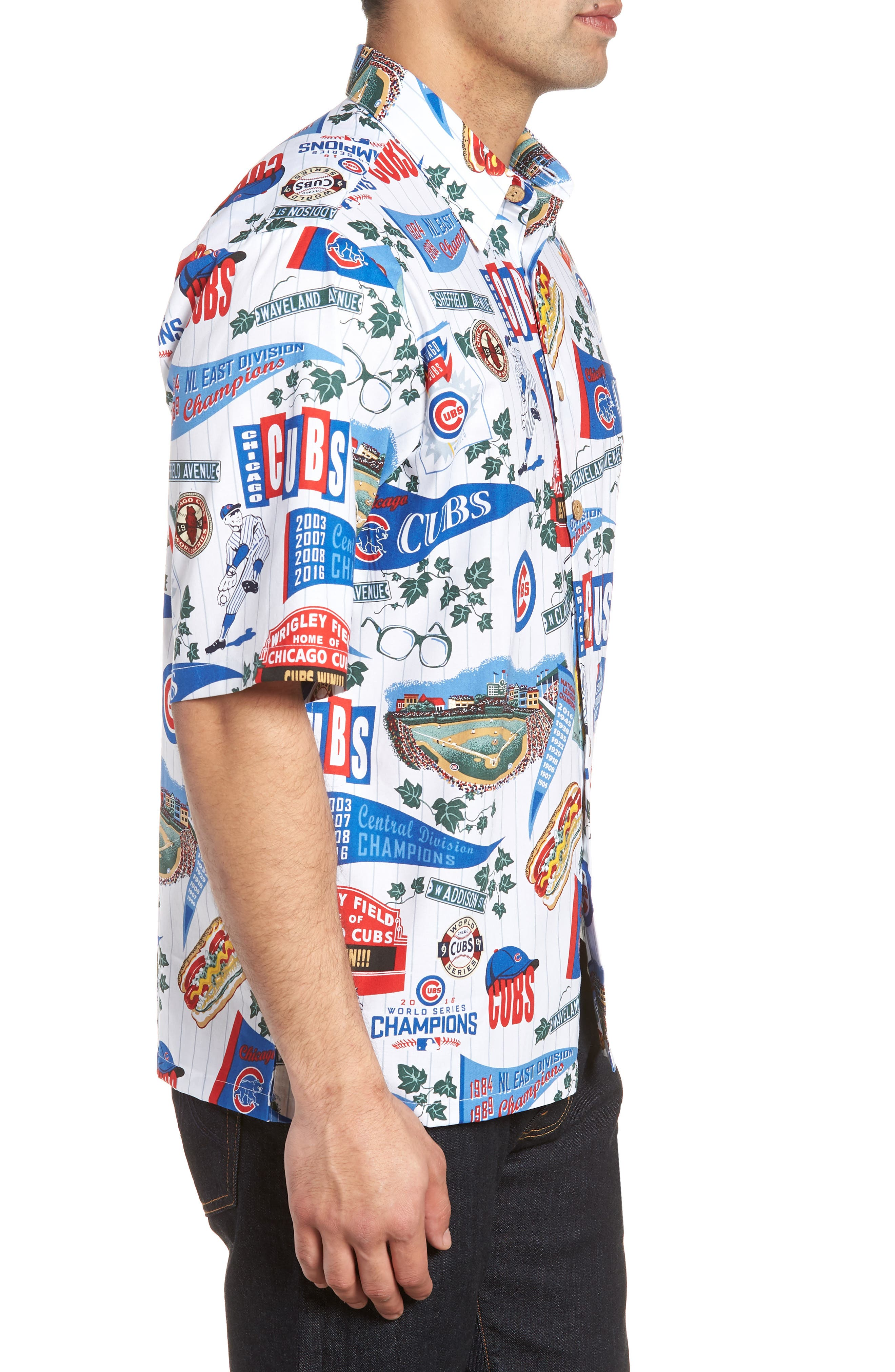 Chicago Cubs Classic Fit Camp Shirt,                             Alternate thumbnail 3, color,                             115