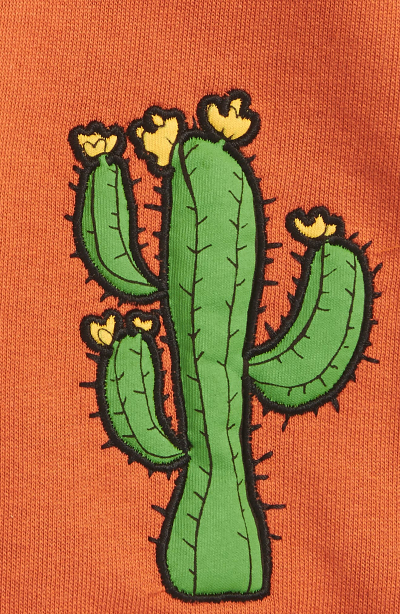 Donkey & Cactus Appliqué Organic Cotton Shorts,                             Alternate thumbnail 2, color,                             800