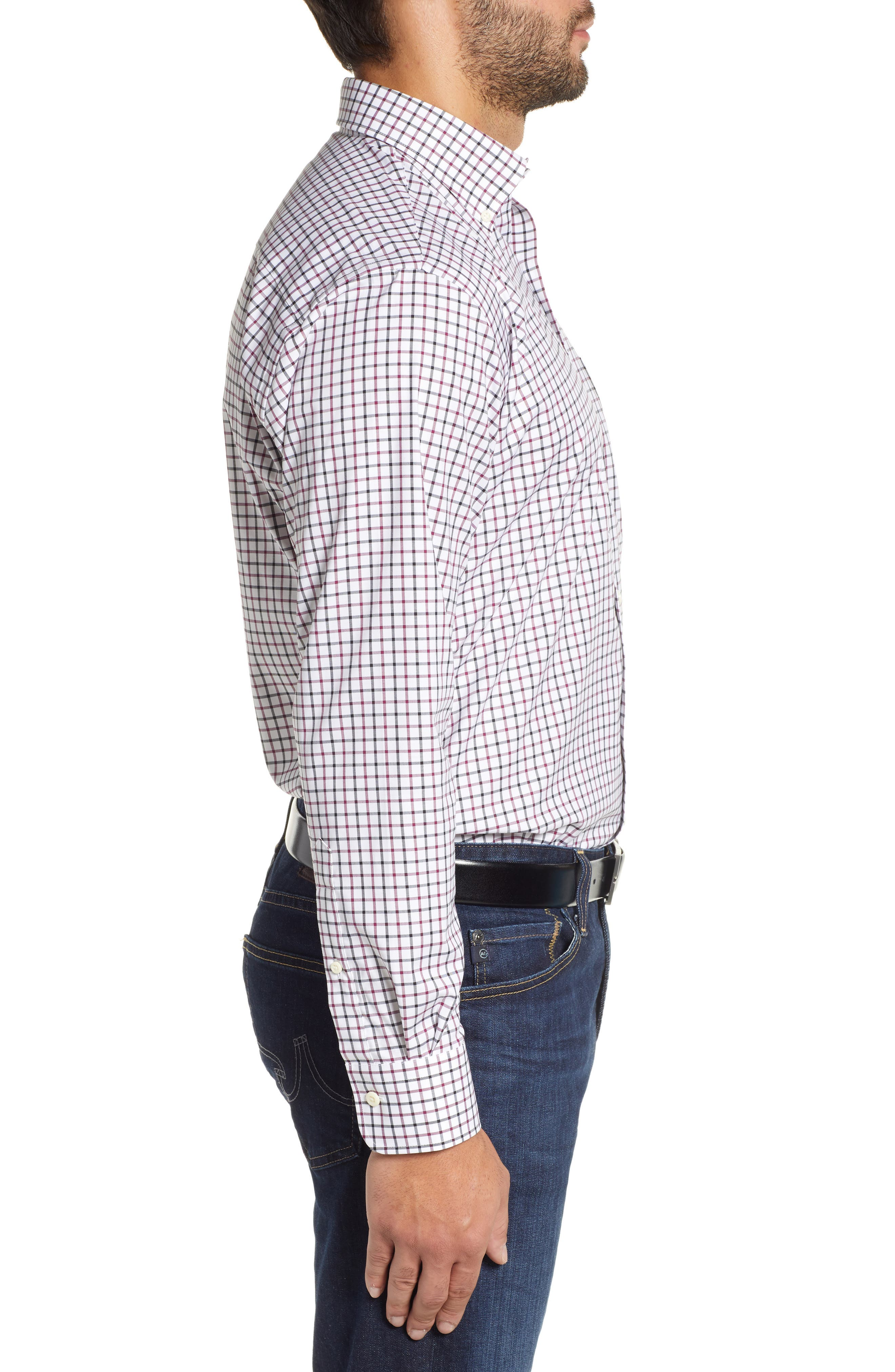 Crown Ease Malta Regular Fit Tattersall Sport Shirt,                             Alternate thumbnail 4, color,                             688