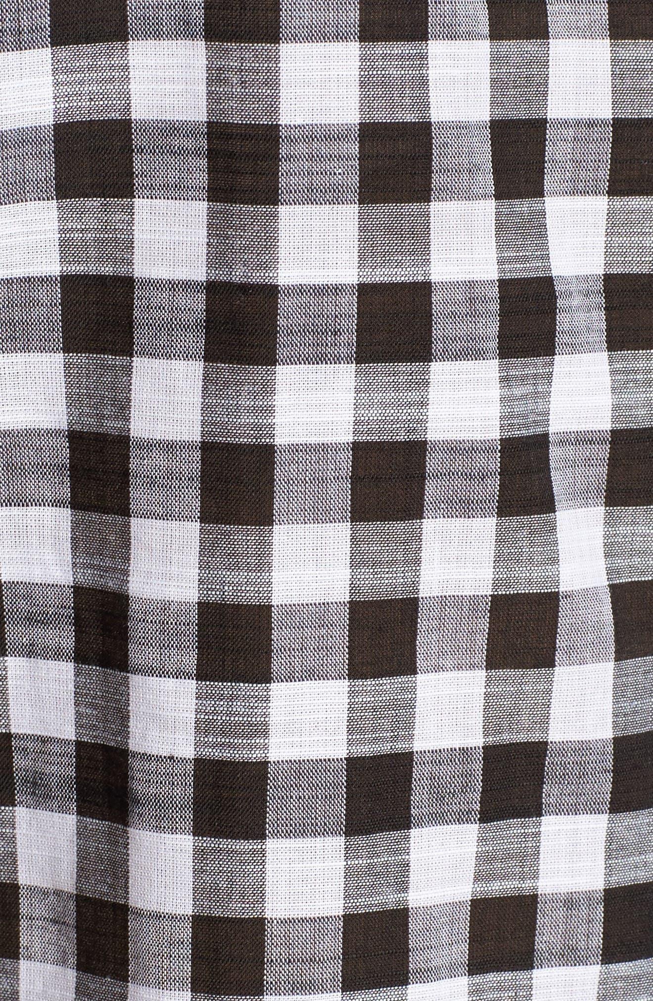 Gingham Sleeveless Shirt,                             Alternate thumbnail 5, color,                             001