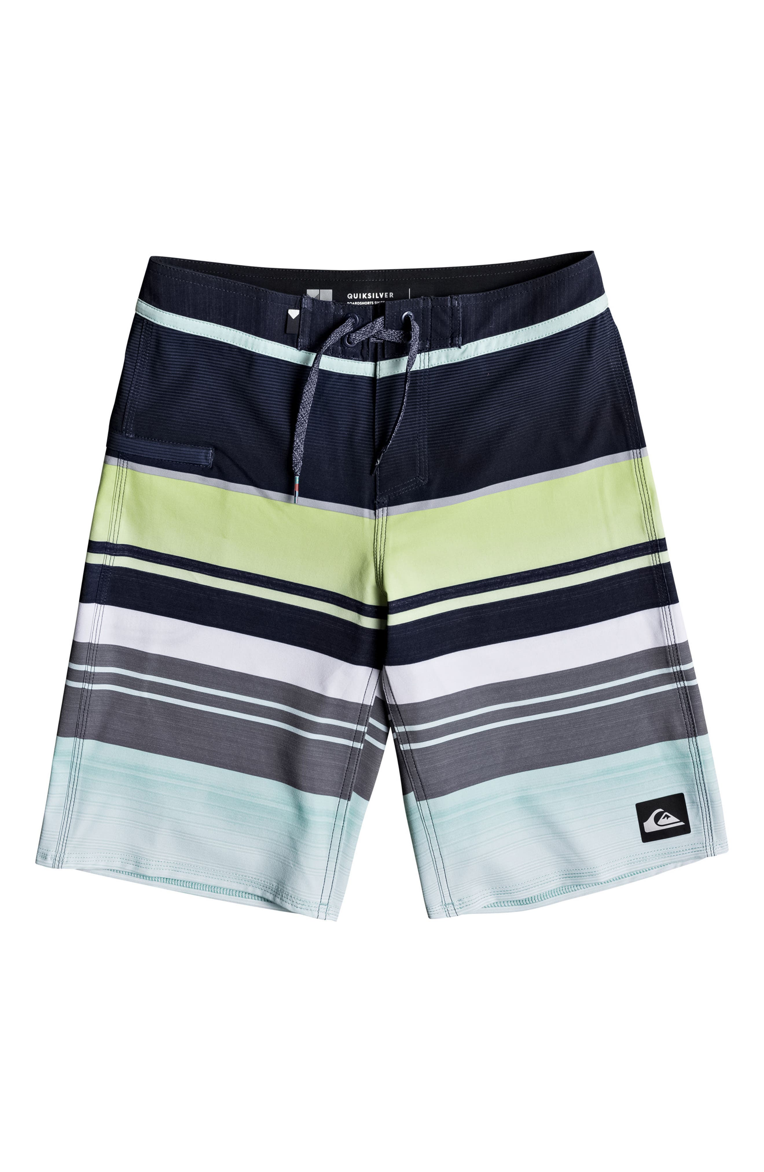 Everyday Stripe Vee Board Shorts,                             Main thumbnail 2, color,