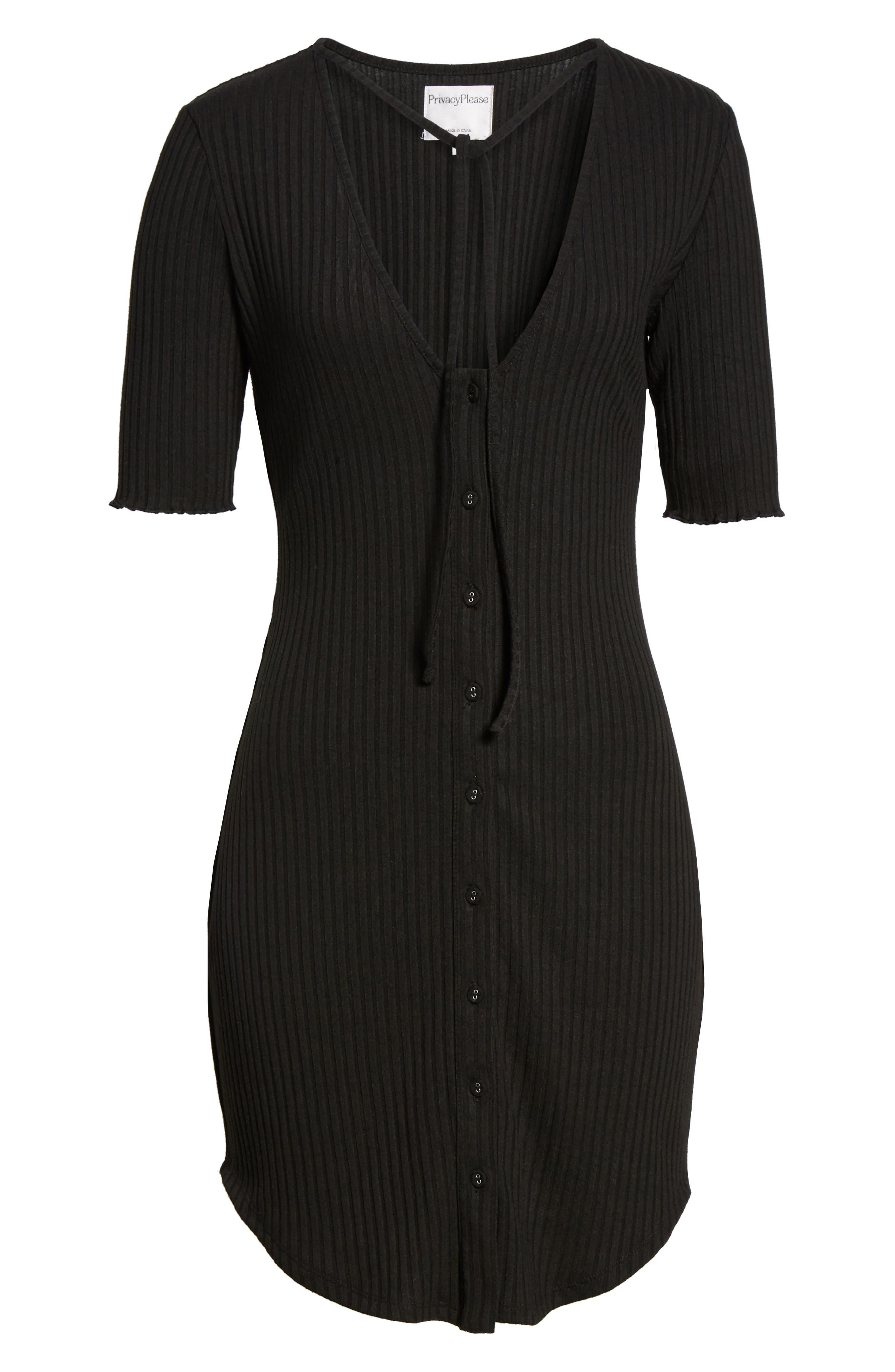Prentiss Tie Dress,                             Alternate thumbnail 6, color,                             001