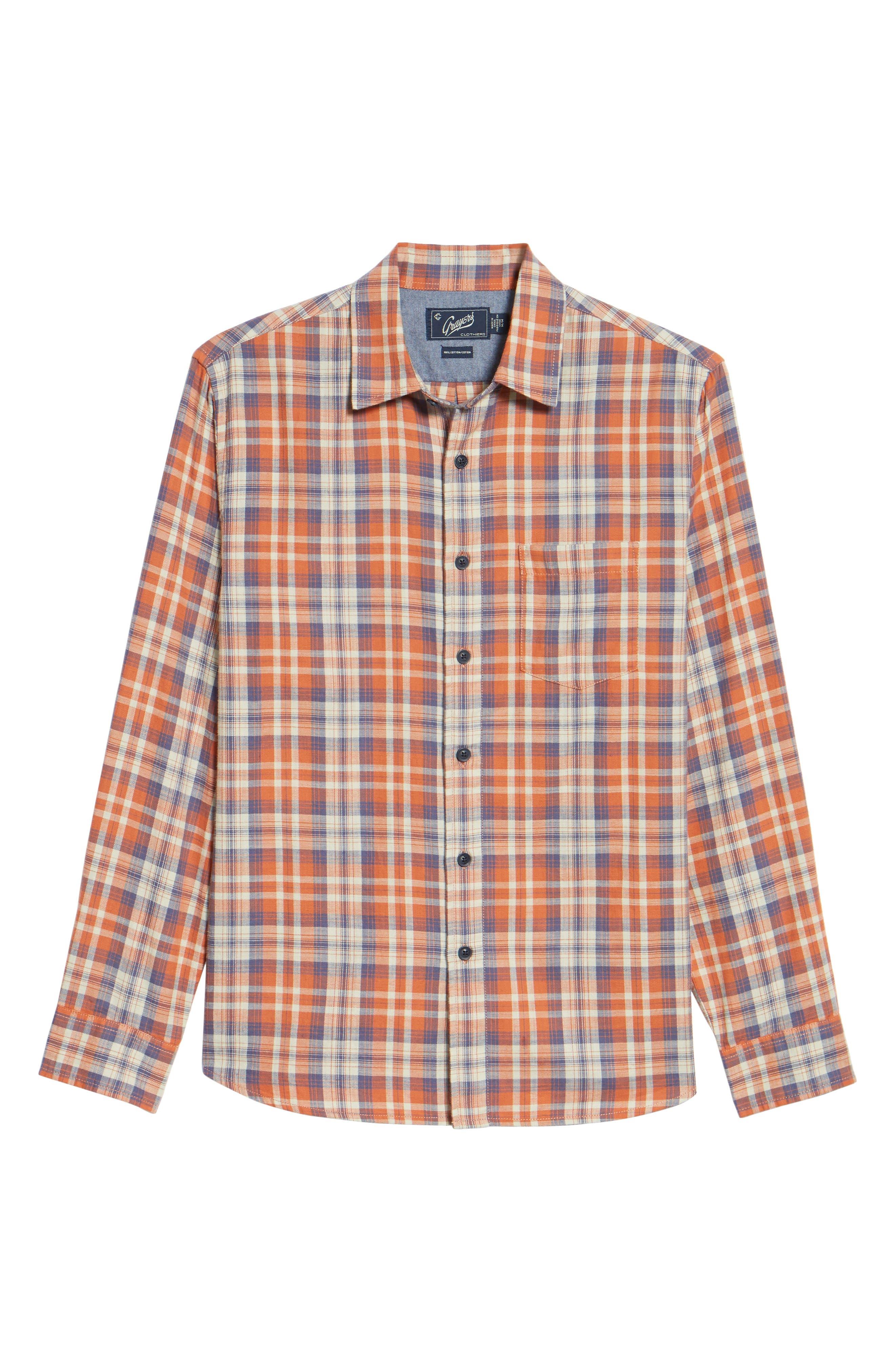 Scottsdale Slim Fit Plaid Slub Twill Sport Shirt,                             Alternate thumbnail 6, color,                             840