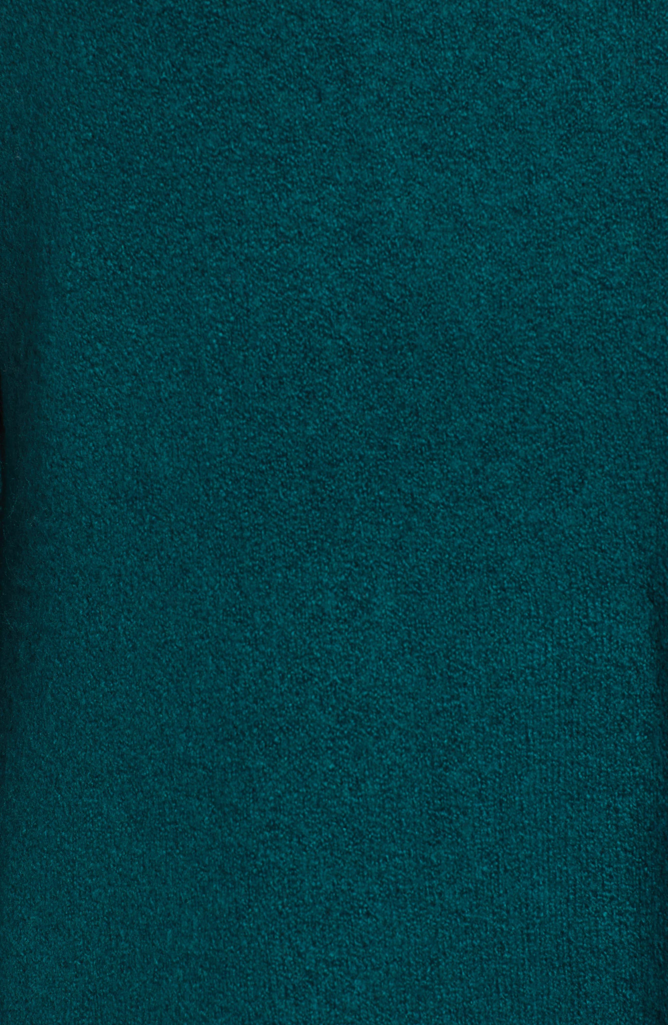 Bow Back Sweater,                             Alternate thumbnail 5, color,                             GREEN BOTANICAL