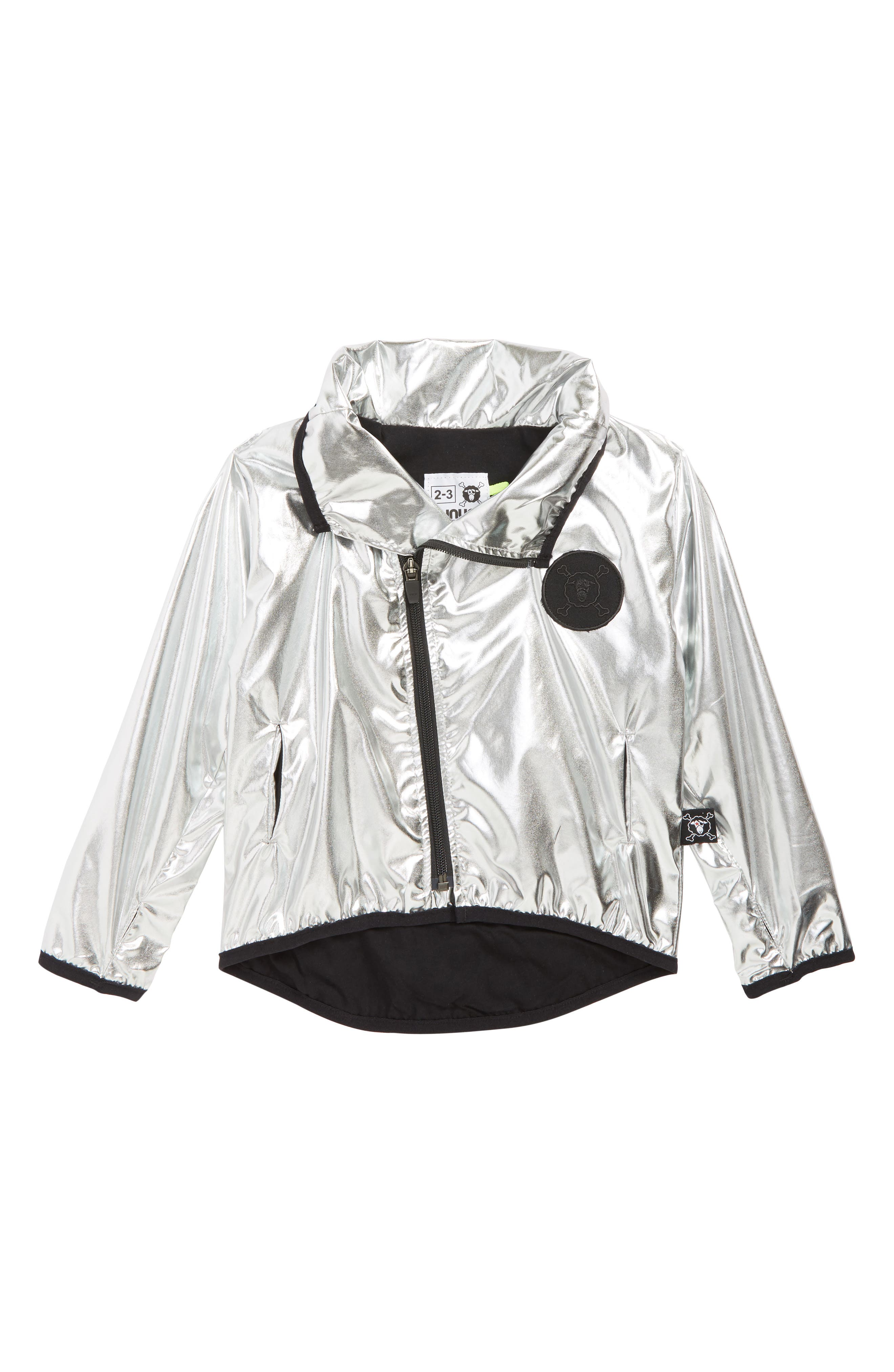 Silver Jacket,                             Main thumbnail 1, color,                             SILVER