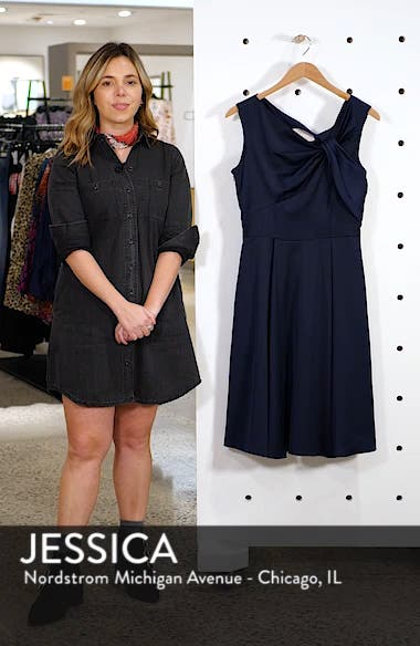 Noelle Twist Neck Satin Dress, sales video thumbnail
