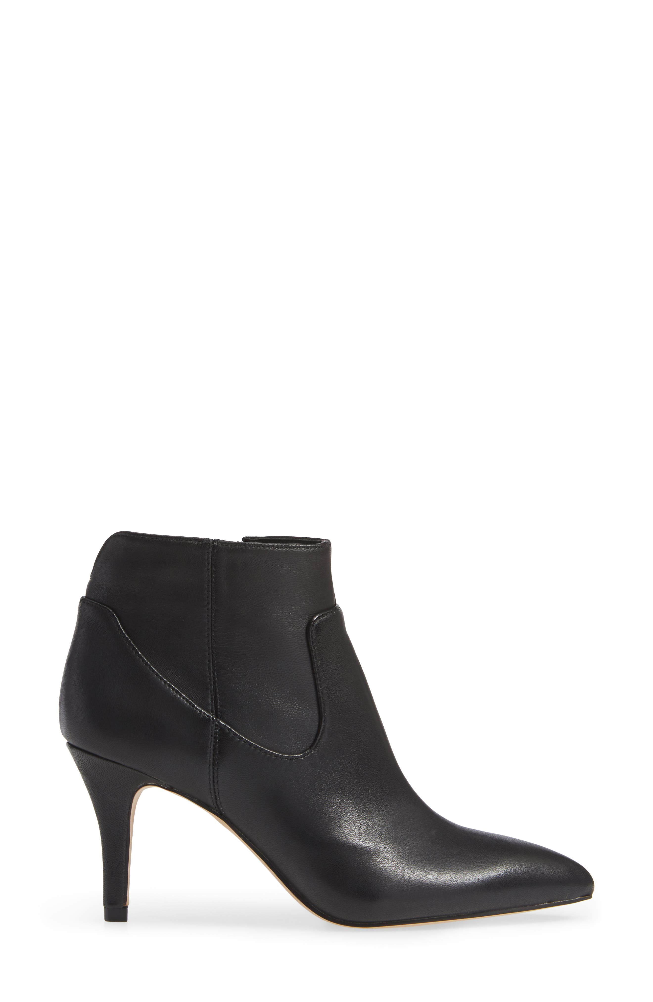 SOLE SOCIETY,                             Raphaela Bootie,                             Alternate thumbnail 3, color,                             BLACK LEATHER
