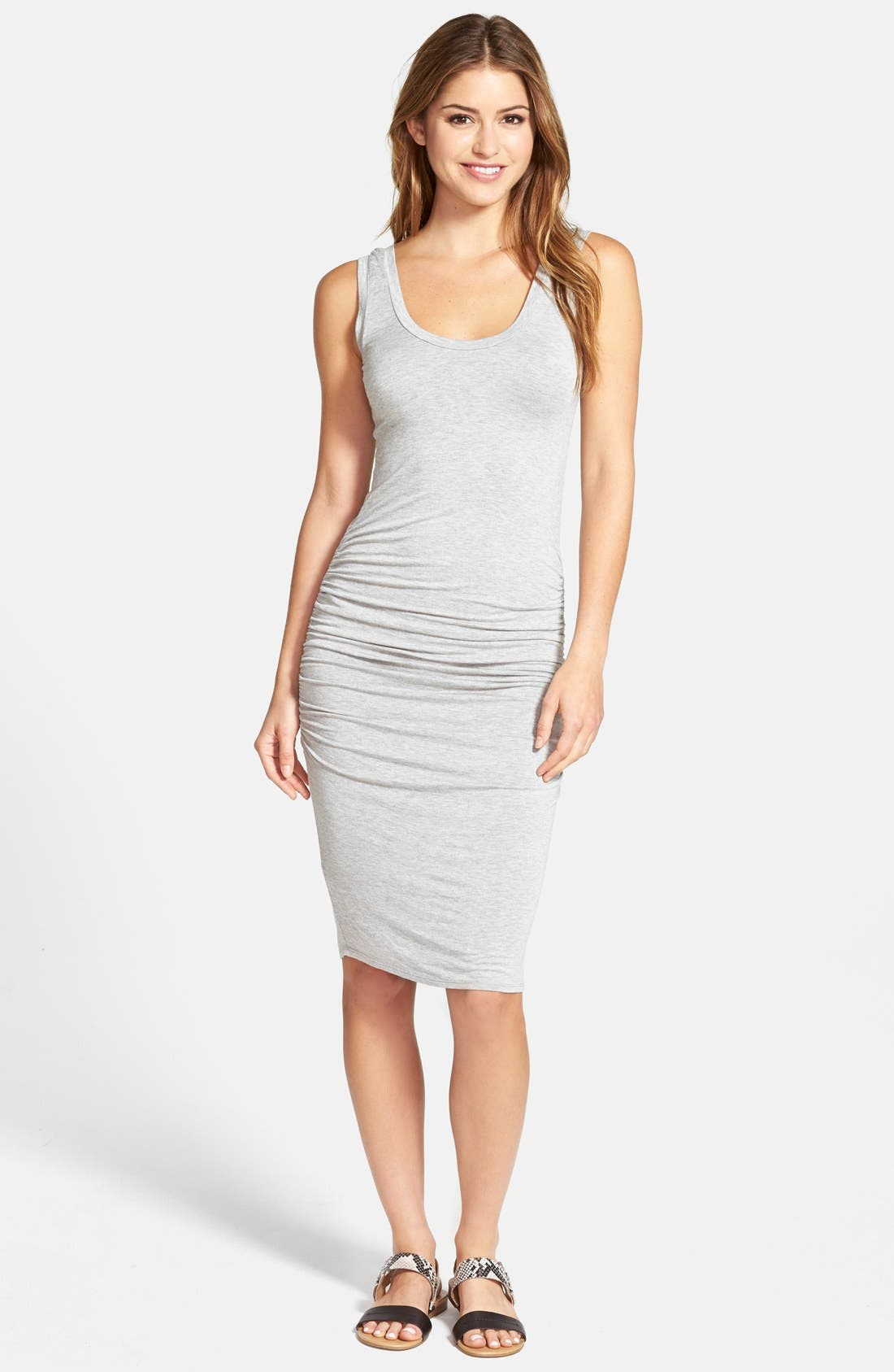 'Frankie' Ruched Tank Dress,                             Main thumbnail 3, color,