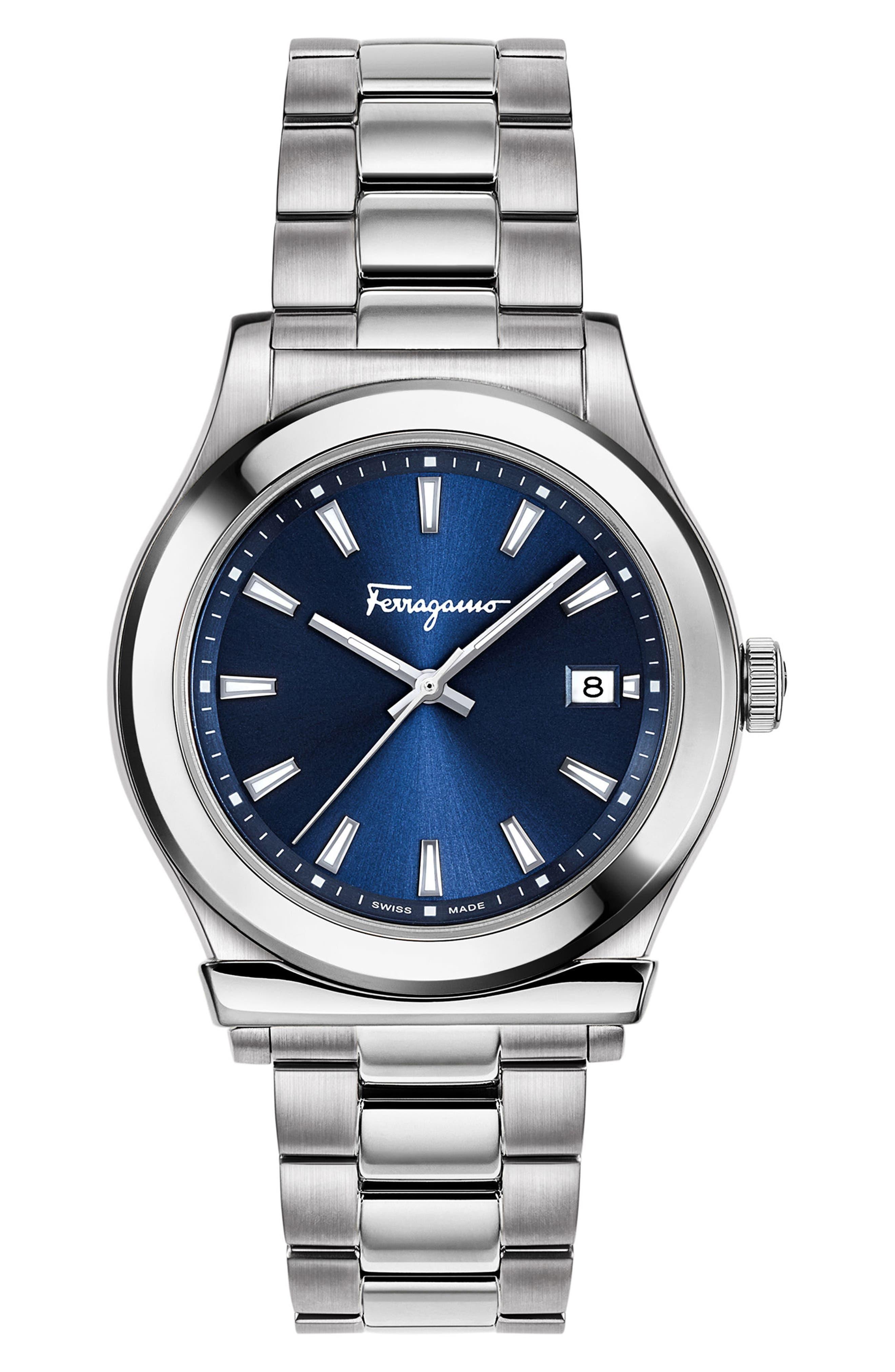 1898 Bracelet Watch, 40mm,                         Main,                         color, SILVER/ BLUE/ SILVER