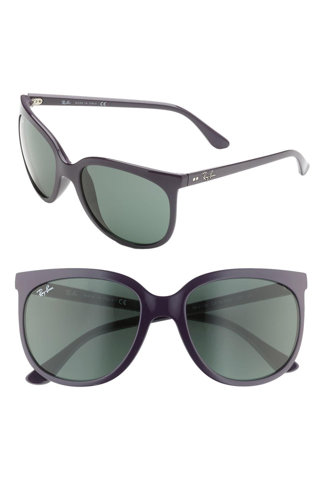 Retro Cat Eye Sunglasses,                             Main thumbnail 6, color,