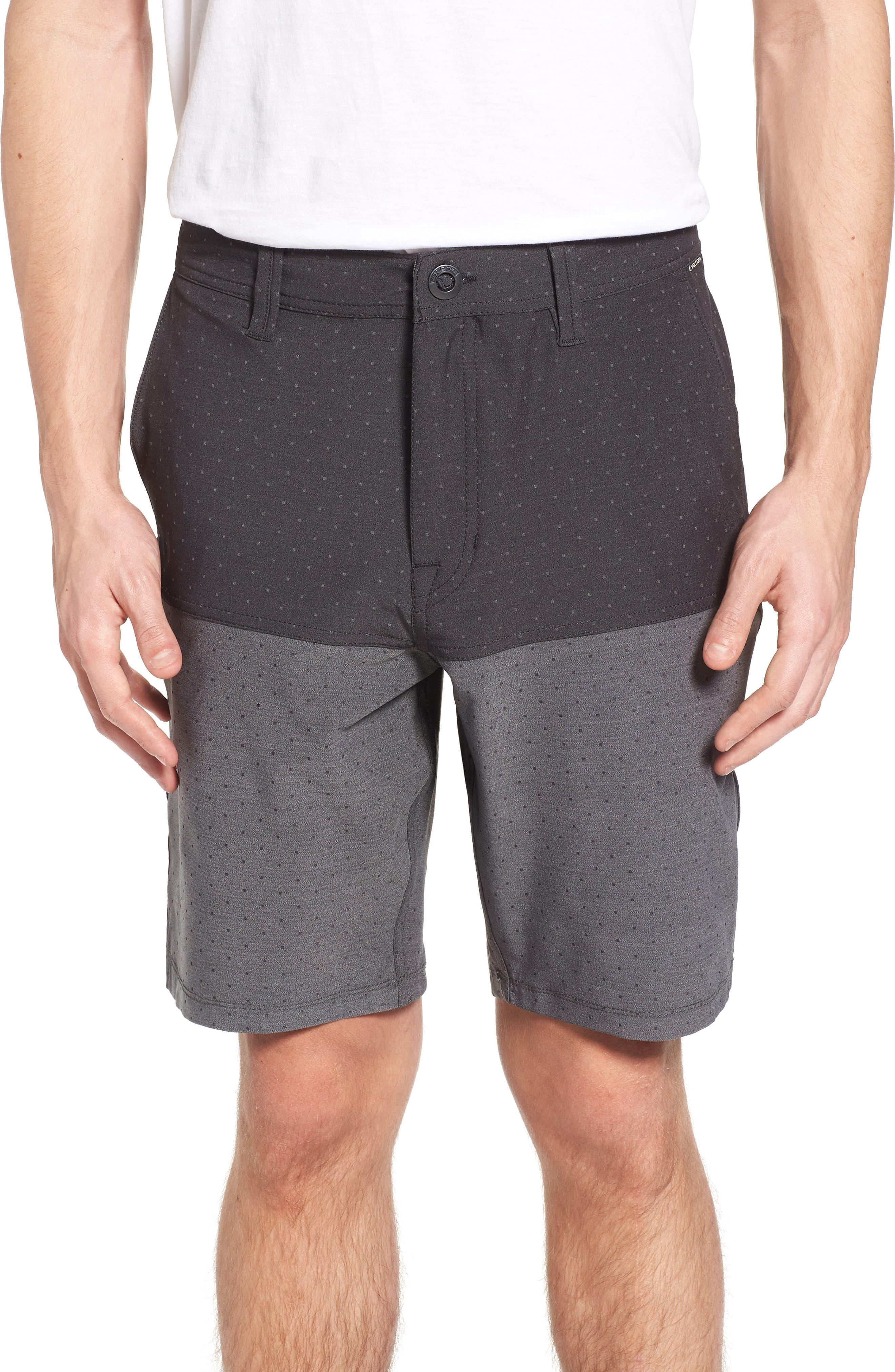 Surf N' Turf Block Hybrid Shorts,                             Main thumbnail 1, color,                             001