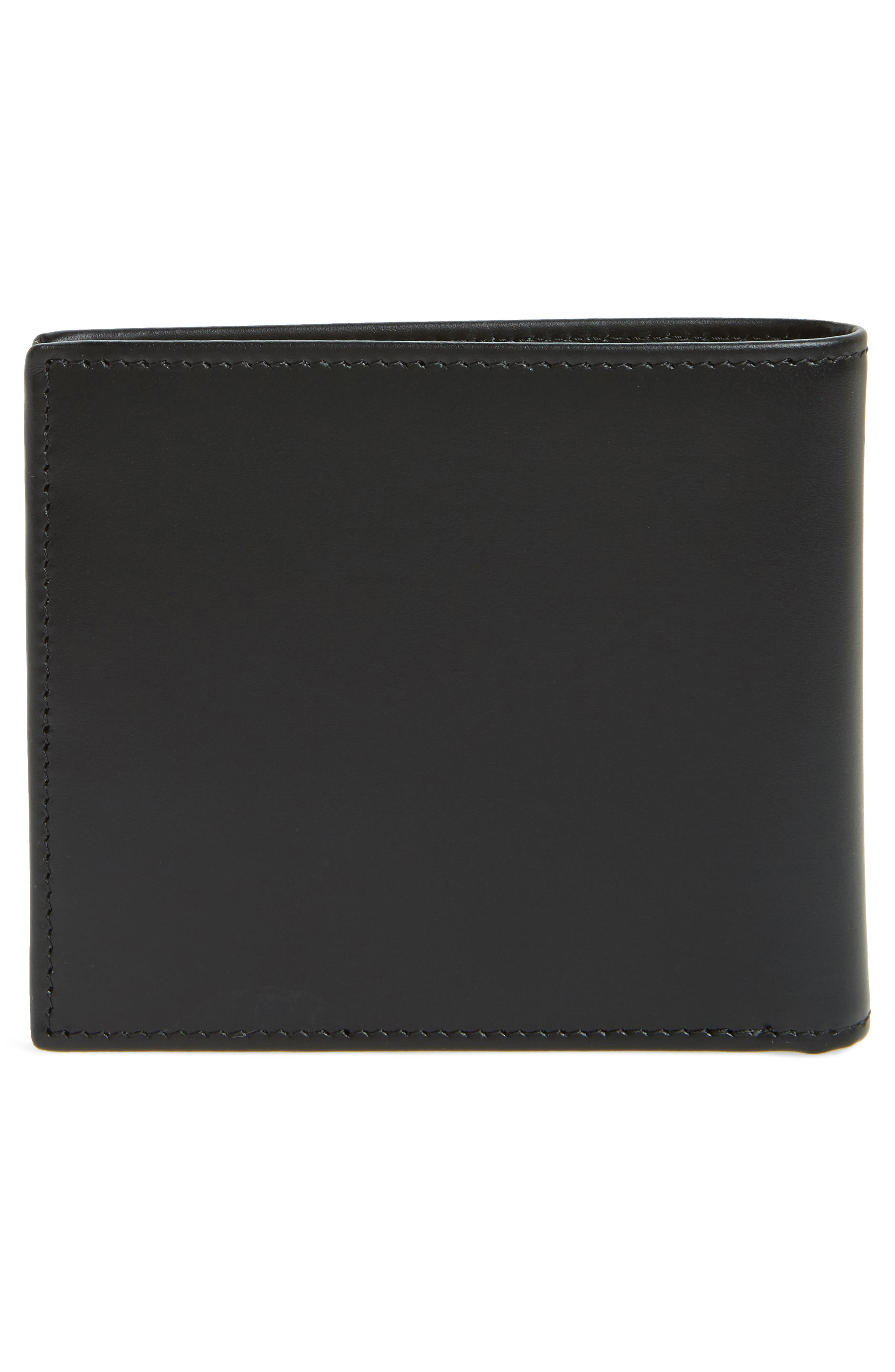 Multistripe Leather Bifold Wallet,                             Alternate thumbnail 3, color,