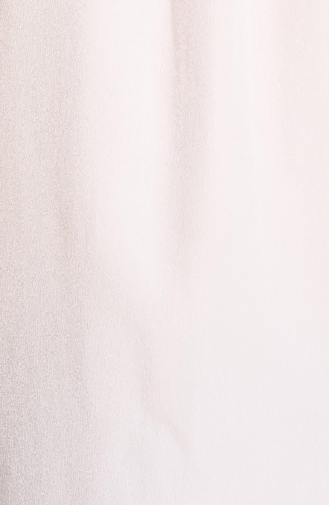 'Slim Signature' Sleeveless Silk Shirt,                             Alternate thumbnail 205, color,
