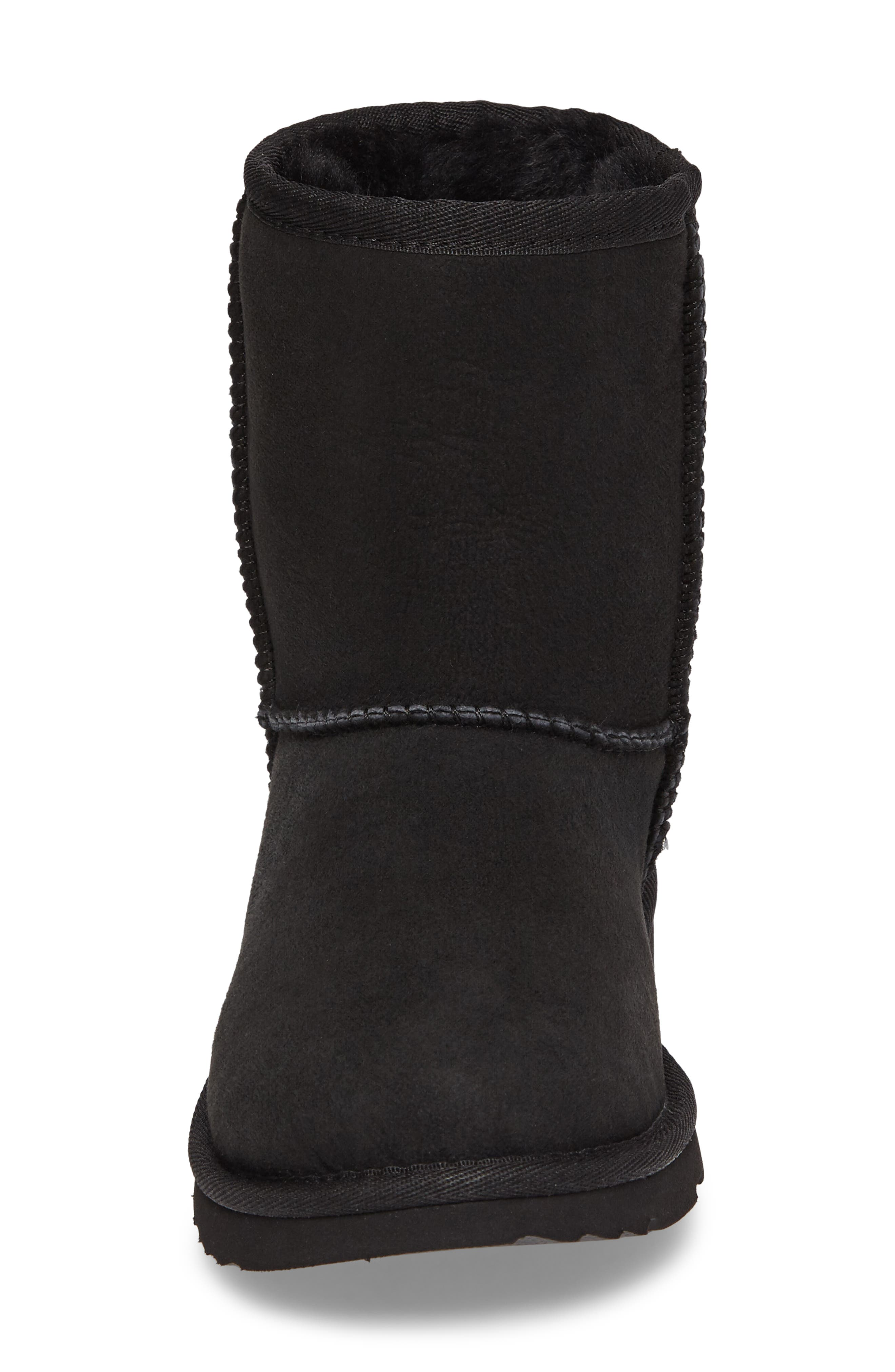 Classic Short II Water Resistant Genuine Shearling Boot,                             Alternate thumbnail 4, color,                             BLACK