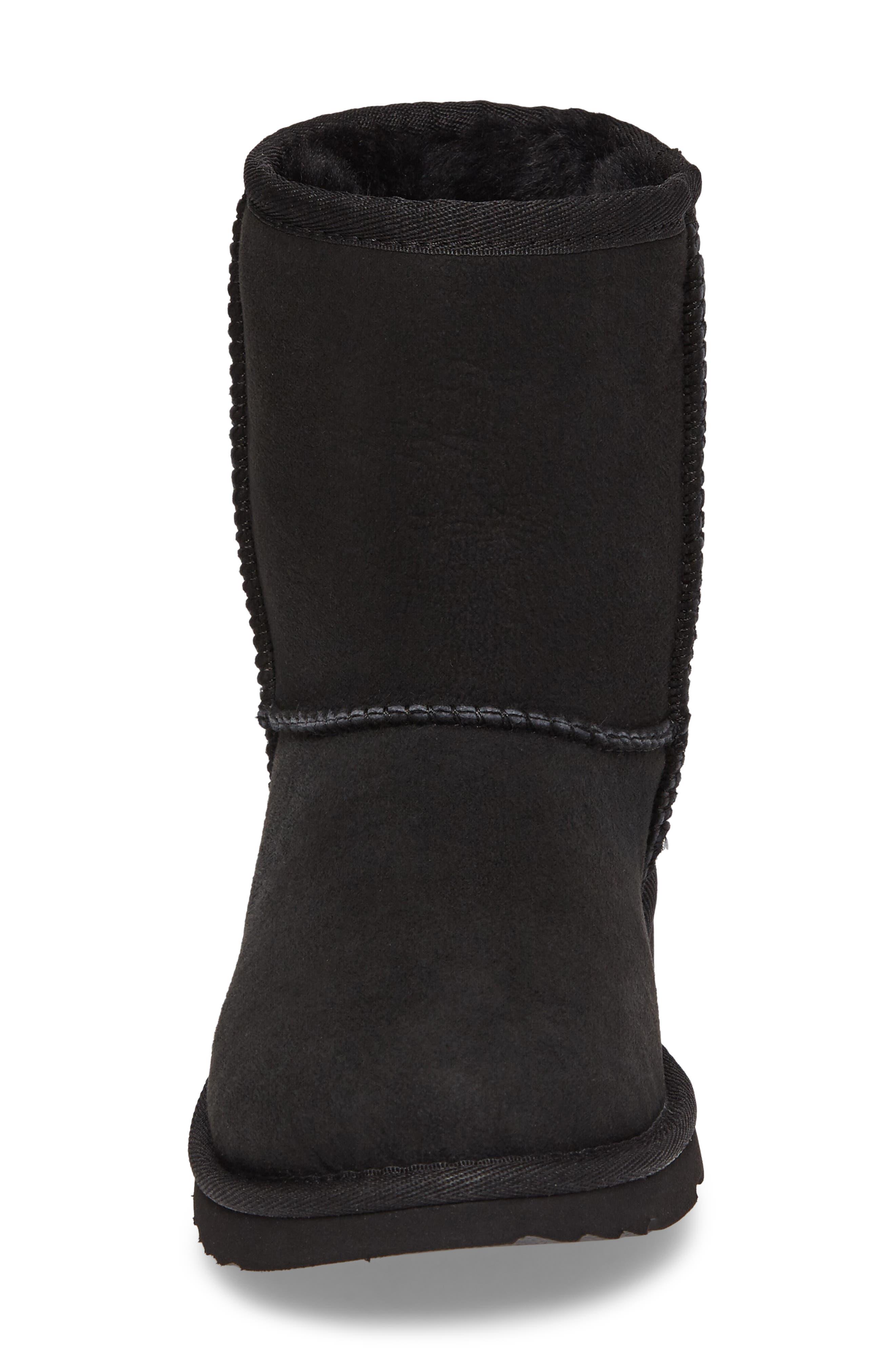 Classic Short II Water Resistant Genuine Shearling Boot,                             Alternate thumbnail 4, color,                             BLACK