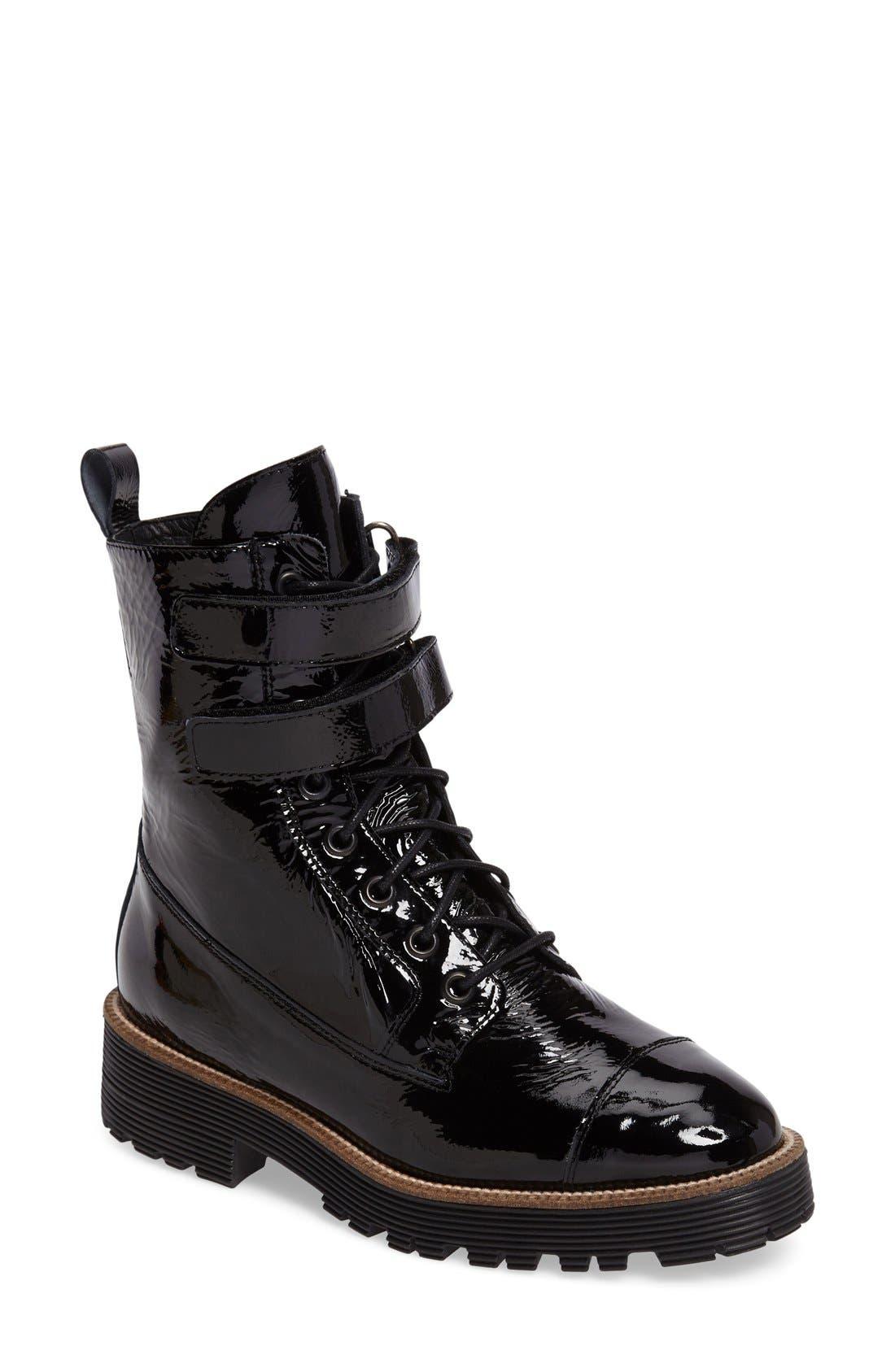Tyra Combat Boot,                         Main,                         color, 001