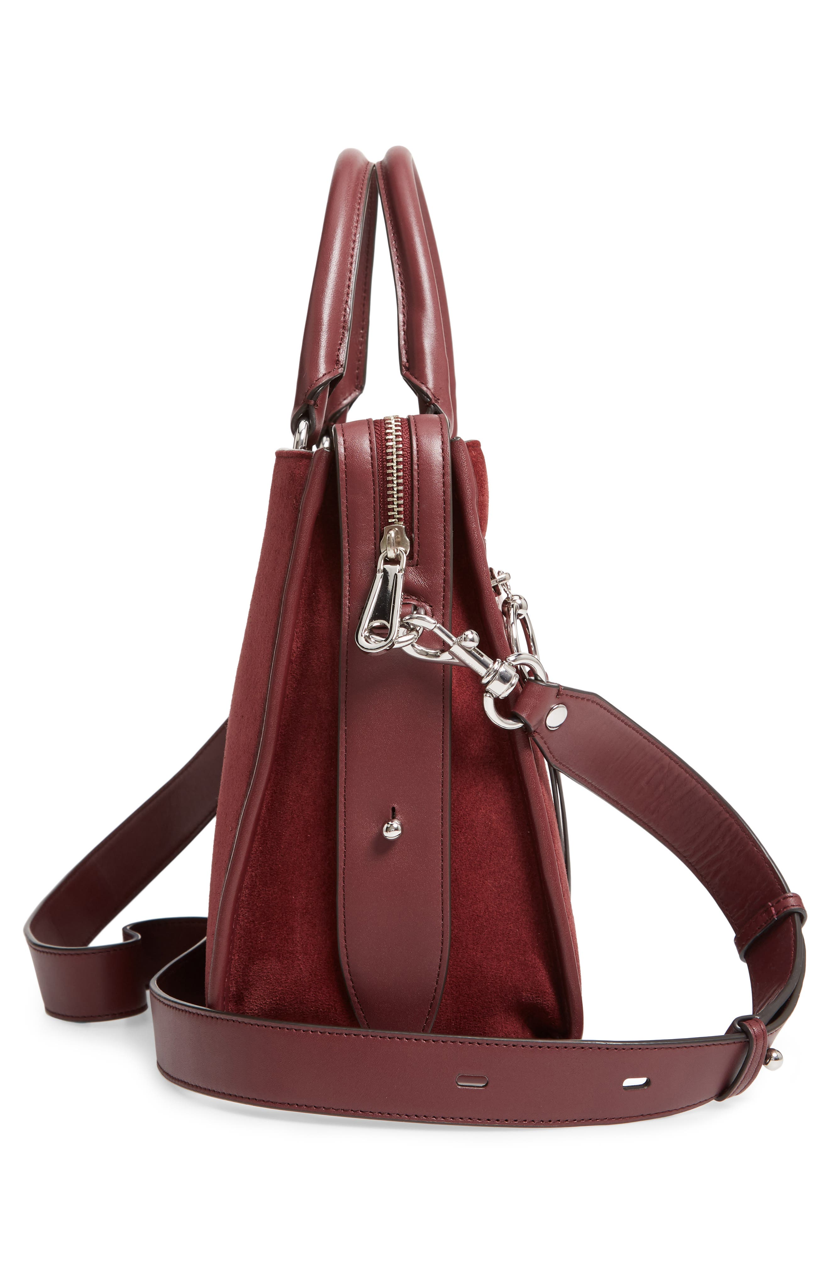 Bedford Suede Satchel,                             Alternate thumbnail 5, color,                             600
