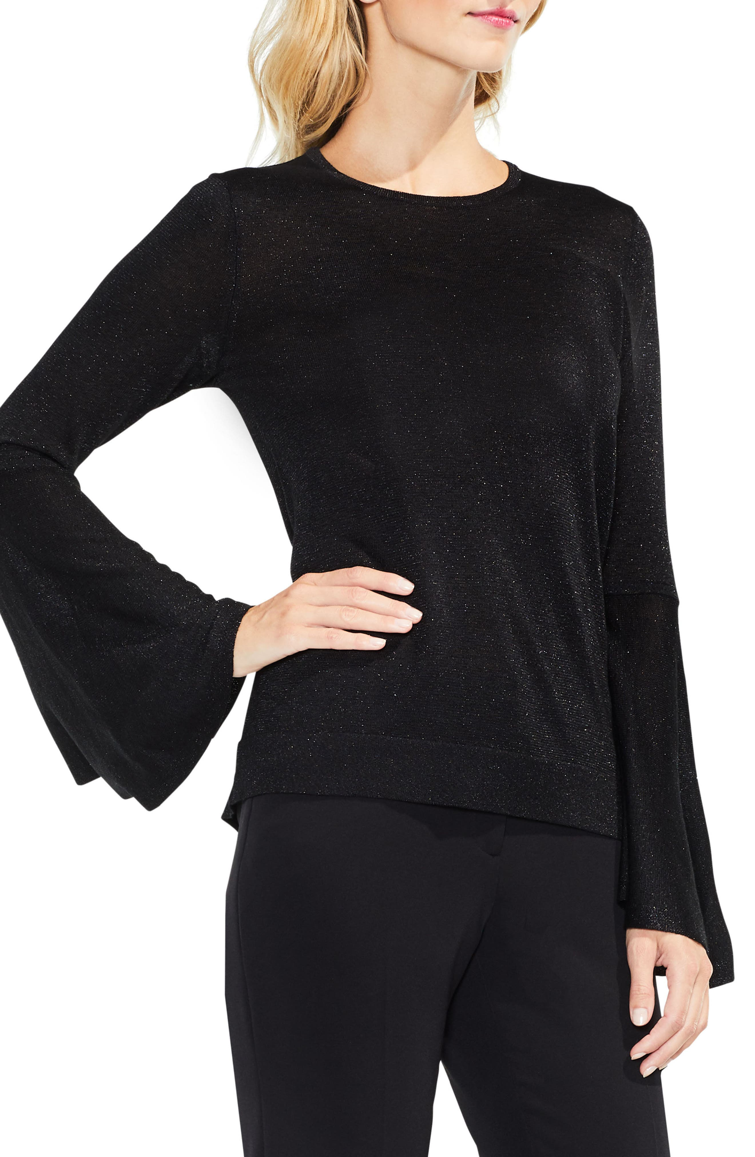 Bell Sleeve Sweater,                             Main thumbnail 1, color,                             006