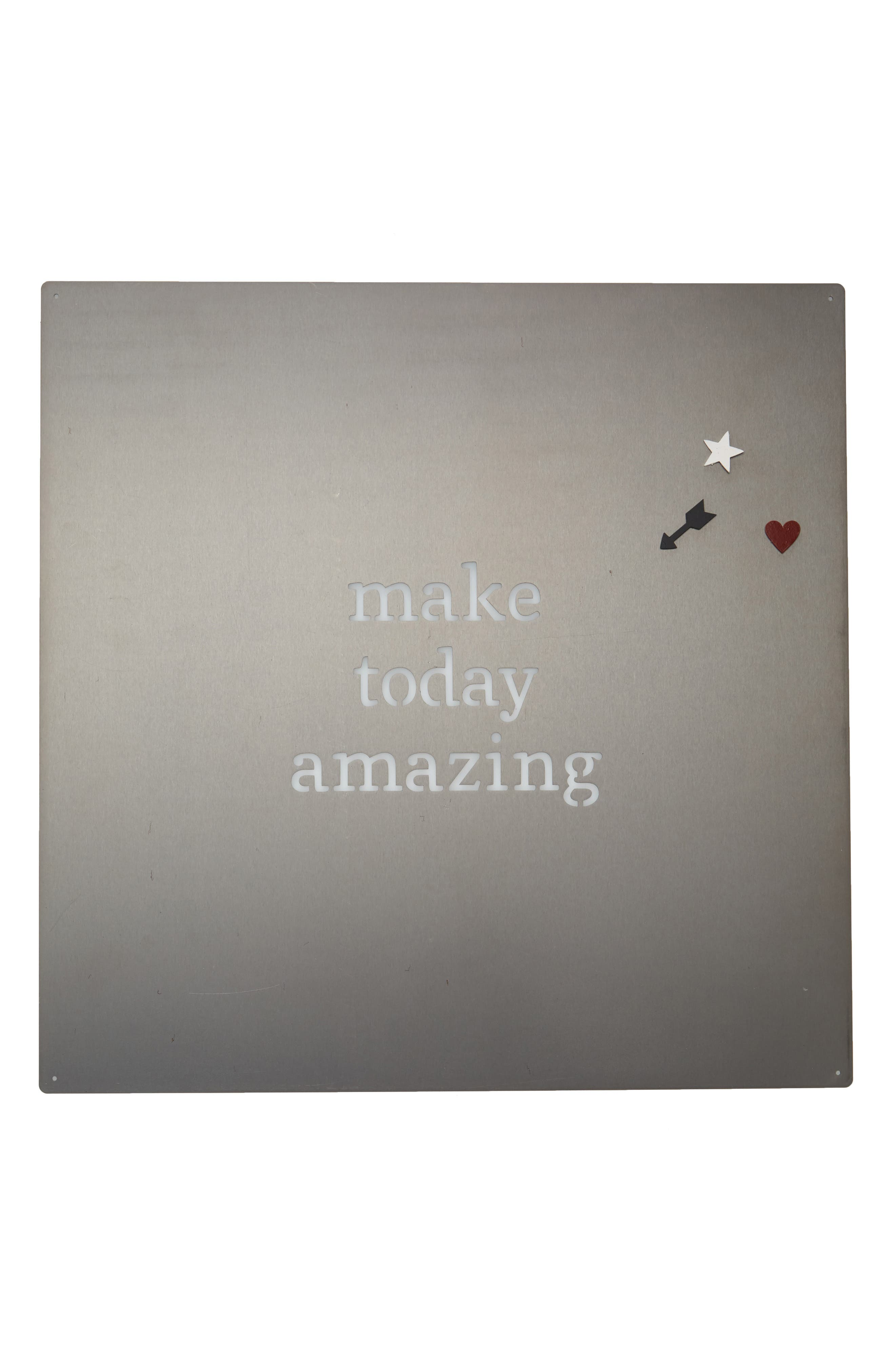 Make Today Amazing Metal Art Board,                         Main,                         color, 040