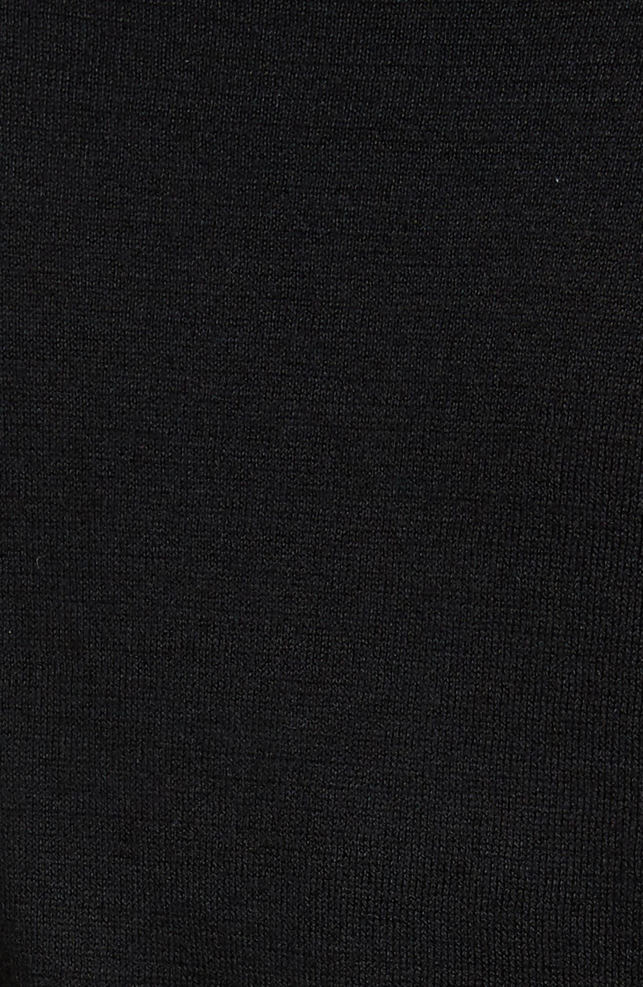Cotton Blend V-Neck Sweater,                             Alternate thumbnail 6, color,                             001