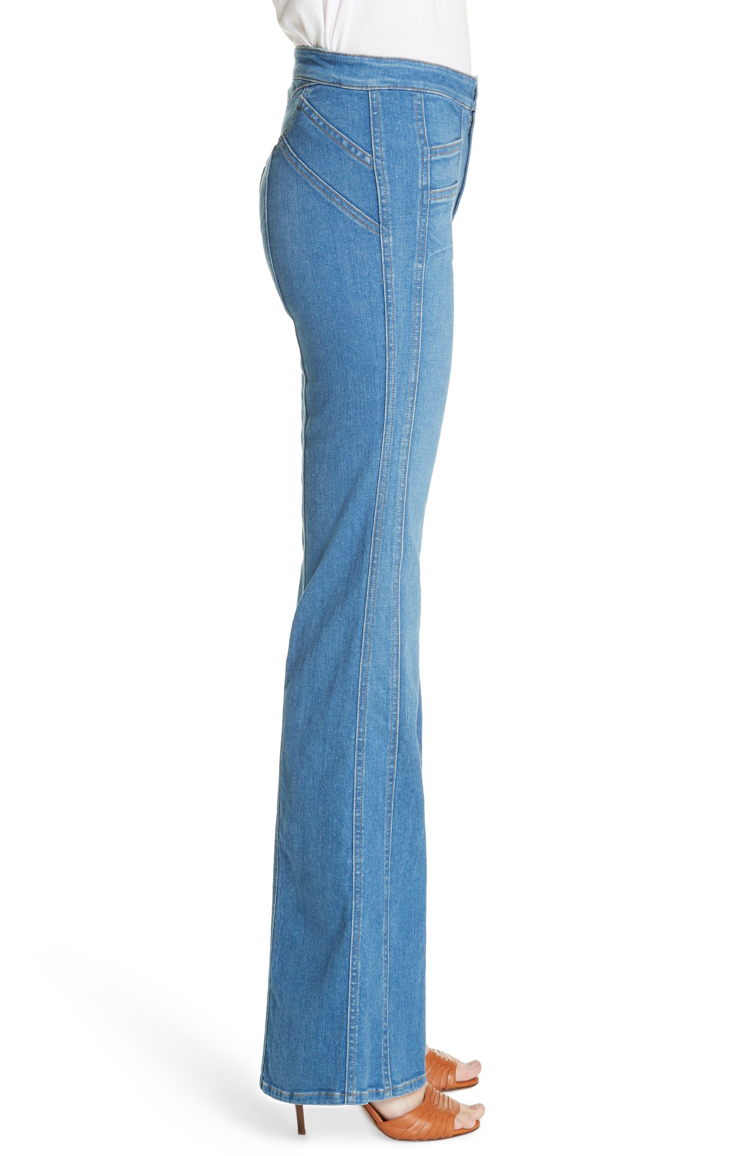 Farrah Wide Leg Jeans,                             Alternate thumbnail 3, color,                             400