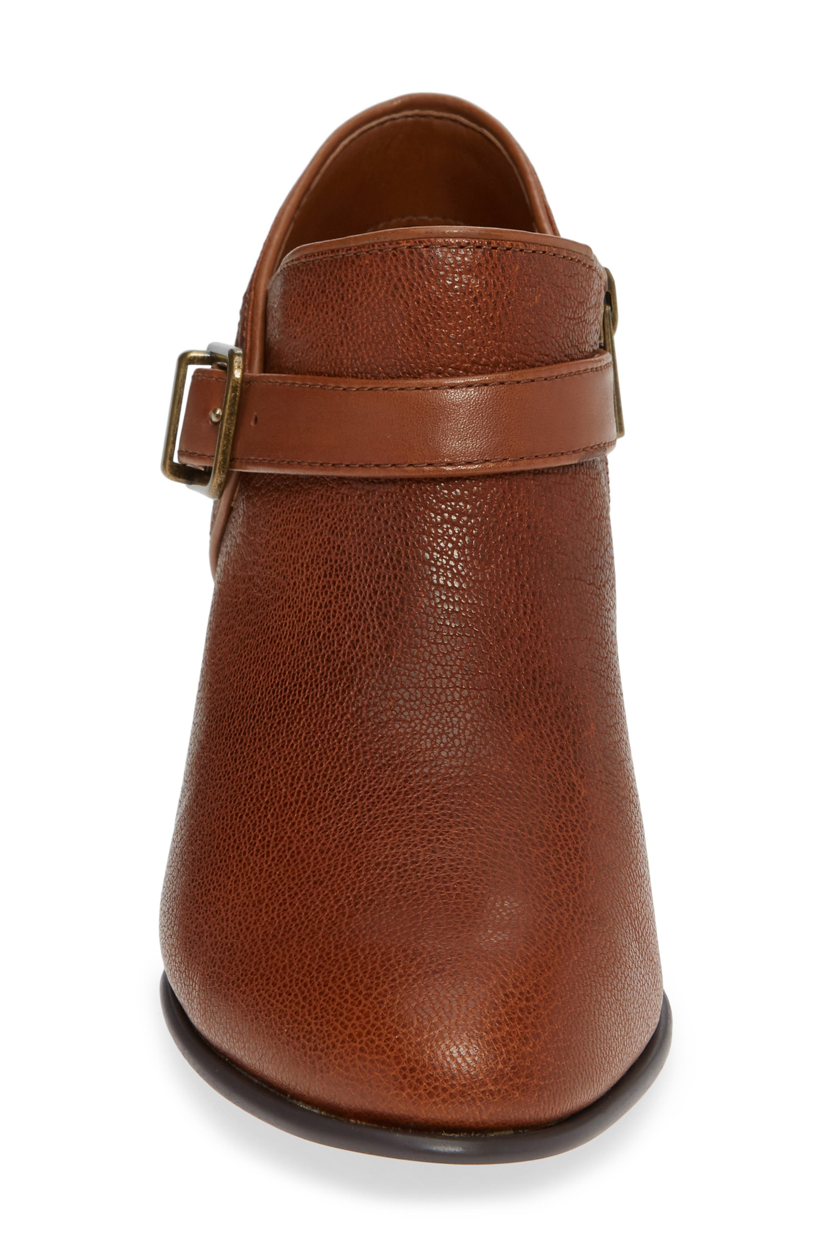 Maypearl Milla Bootie,                             Alternate thumbnail 4, color,                             DARK TAN TUMBLED LEATHER