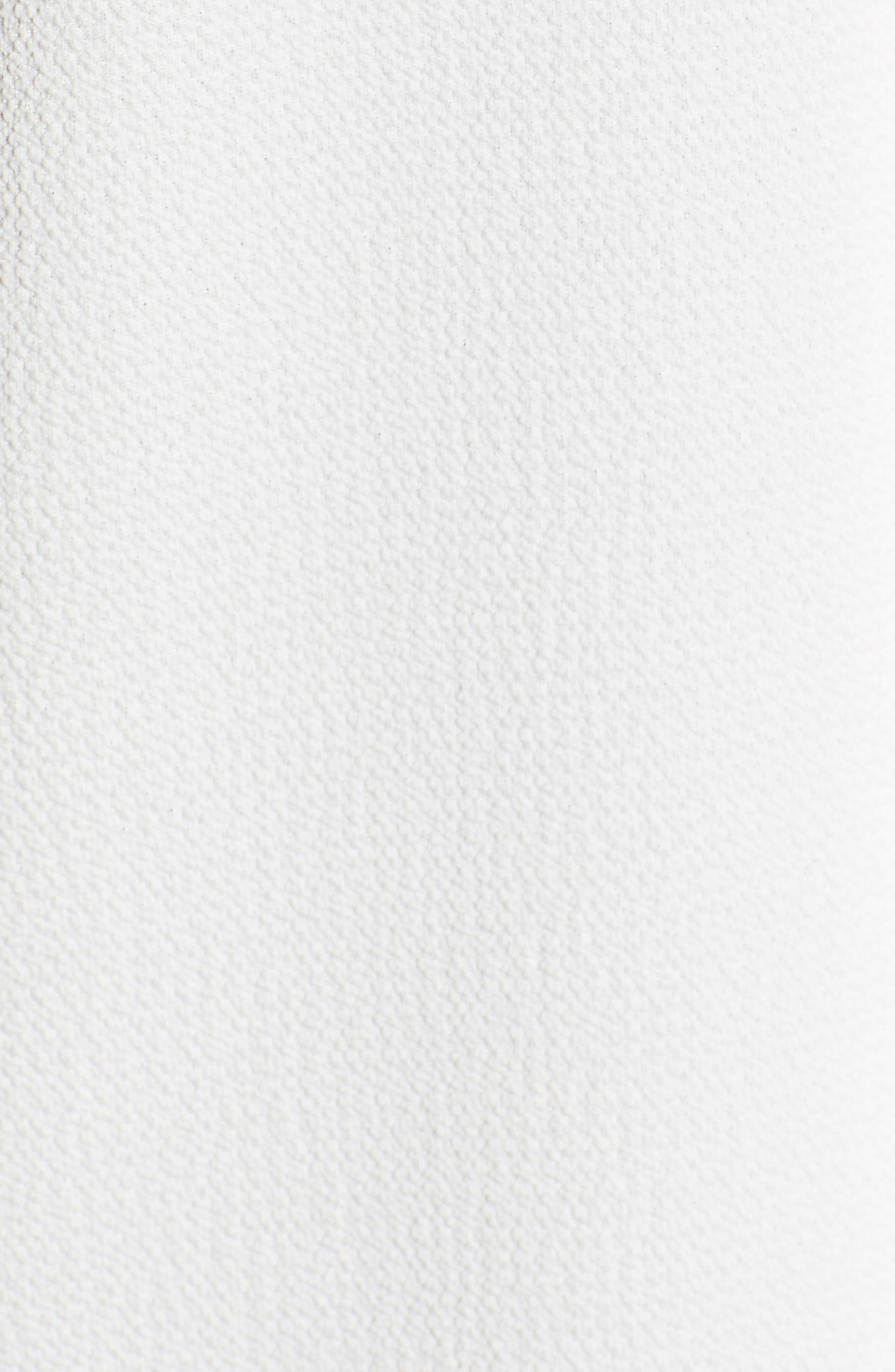 Embellished Neck Top,                             Alternate thumbnail 5, color,                             OFF WHITE