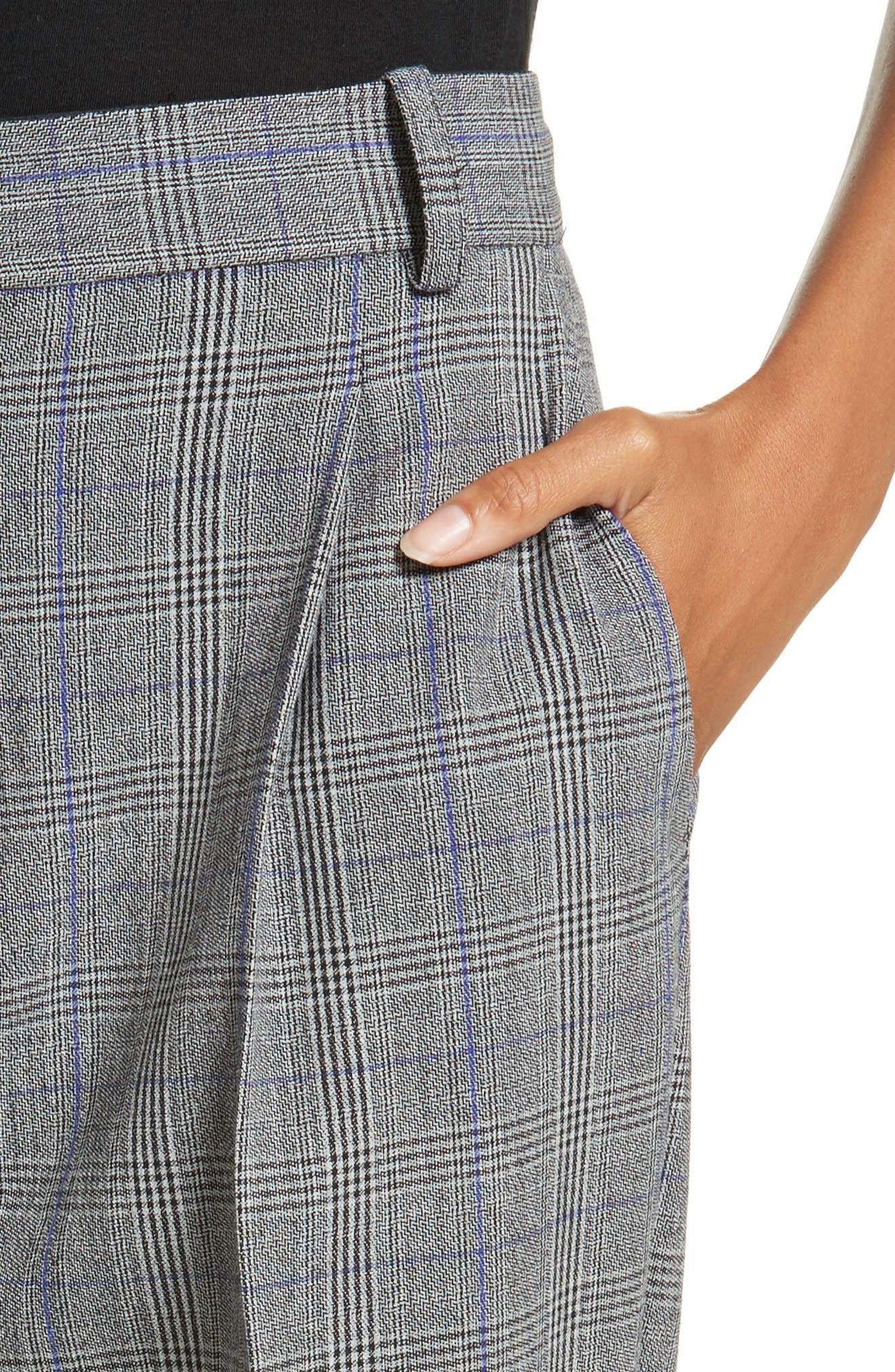Check Pleat Front Pants,                             Alternate thumbnail 4, color,                             014