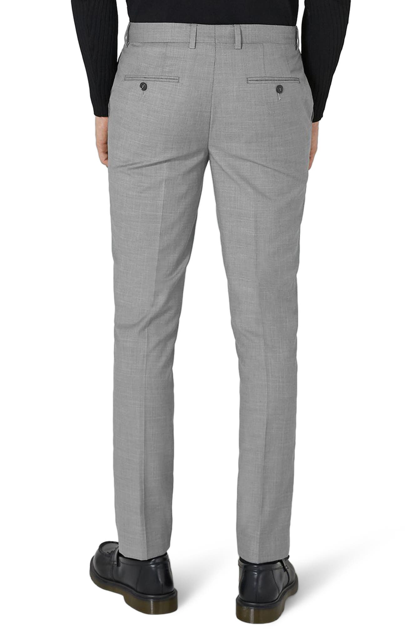 Como Skinny Fit Grey Suit Pants,                             Alternate thumbnail 2, color,                             GREY