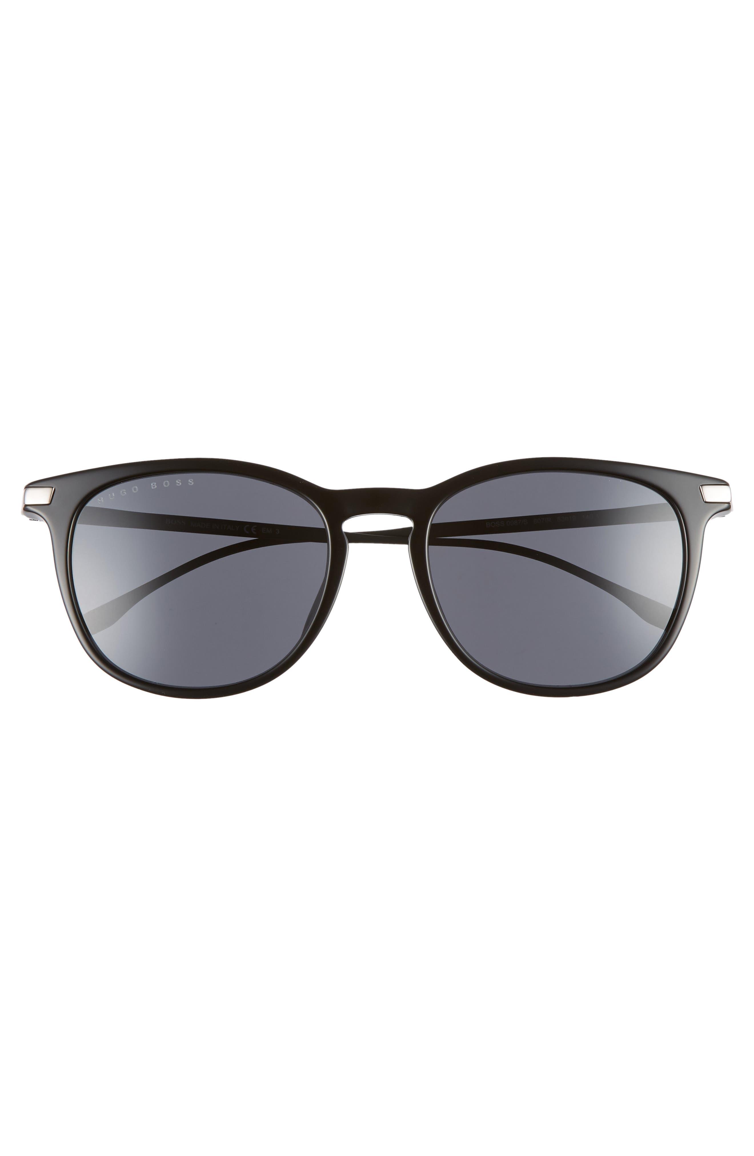 53mm Sunglasses,                             Alternate thumbnail 3, color,                             BLACK