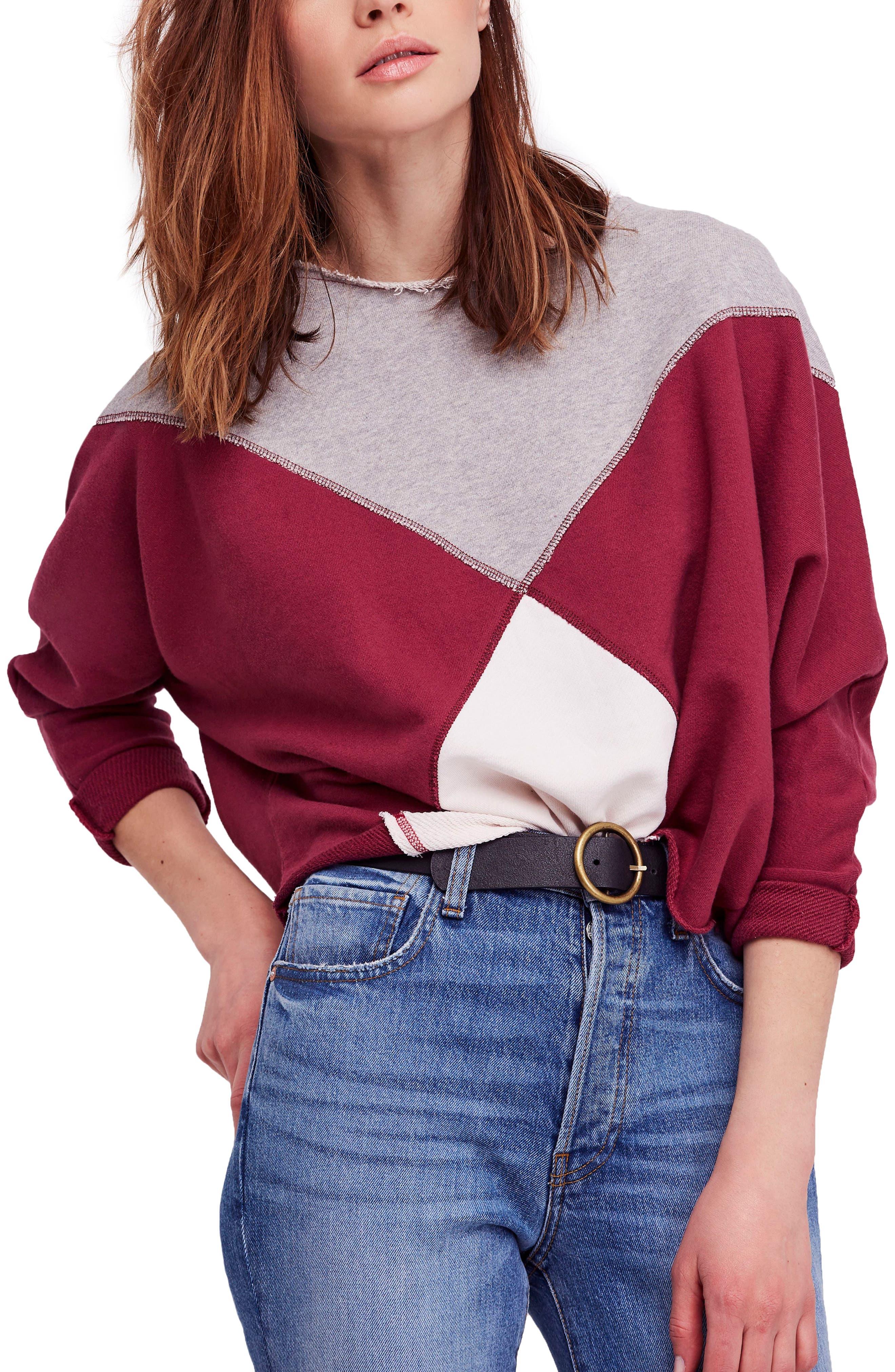Montauk Sweatshirt,                         Main,                         color, PINK