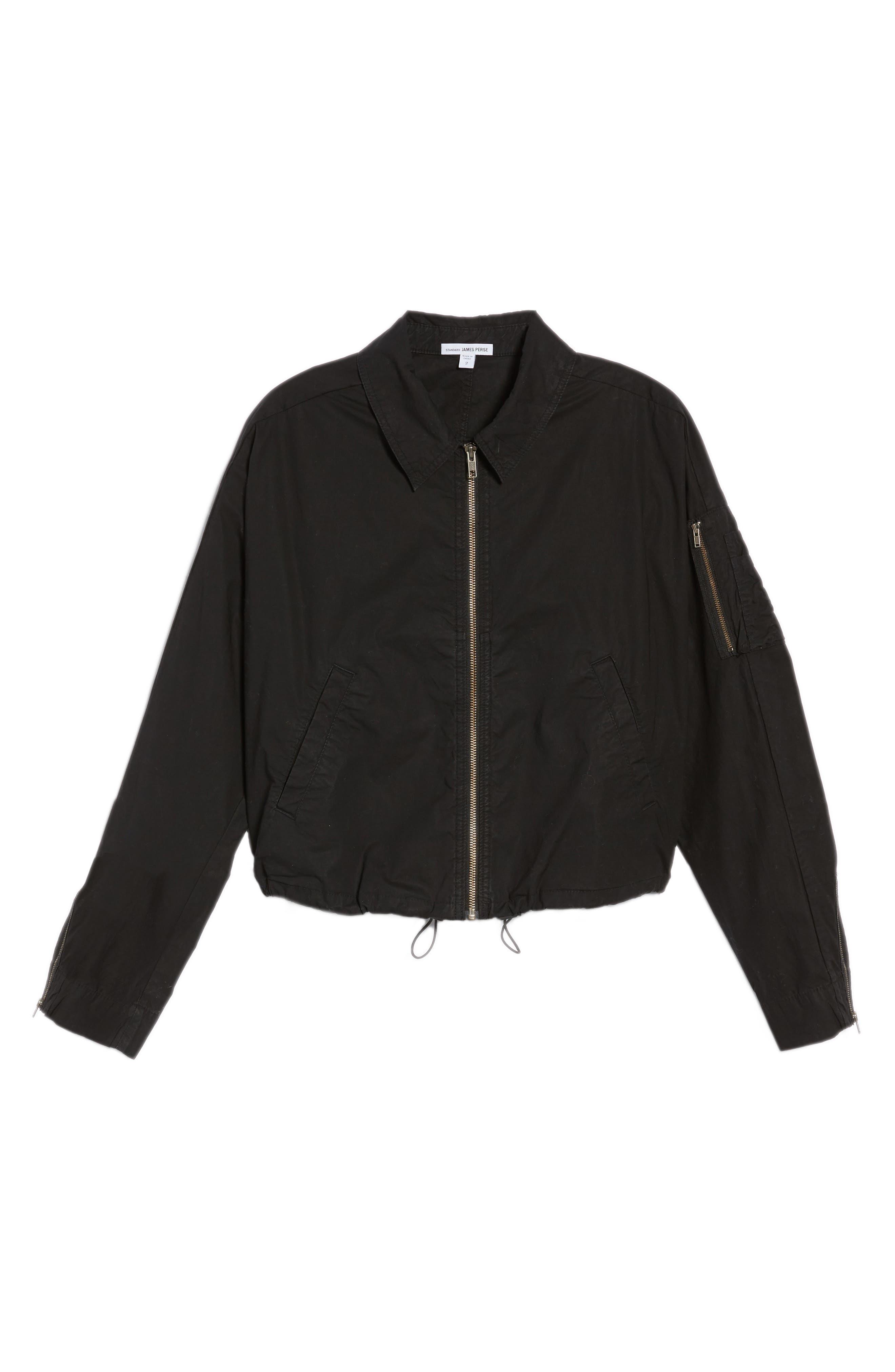 Dolman Sleeve Bomber Jacket,                             Alternate thumbnail 9, color,