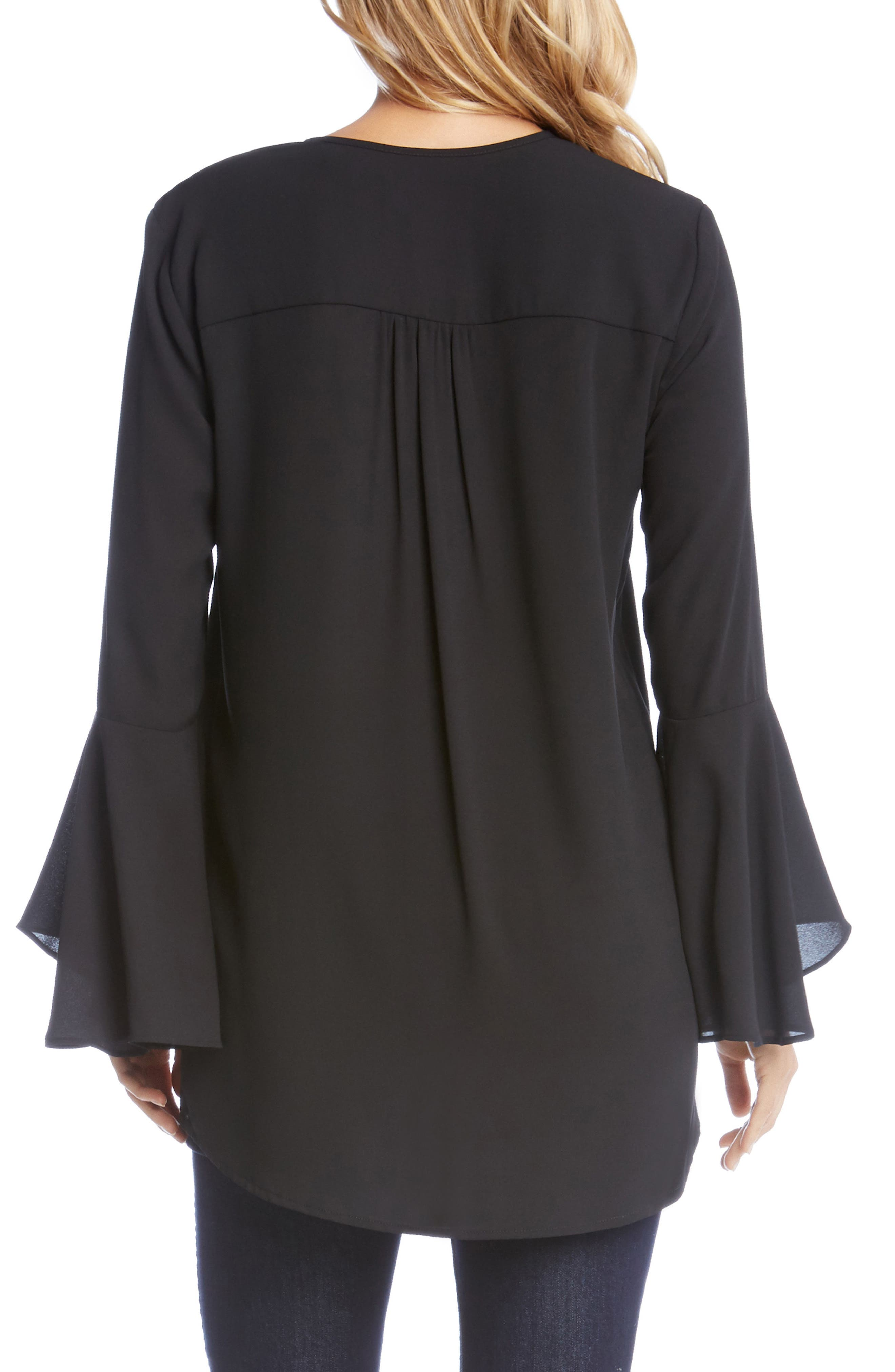 Slit Sleeve High/Low Top,                             Alternate thumbnail 5, color,