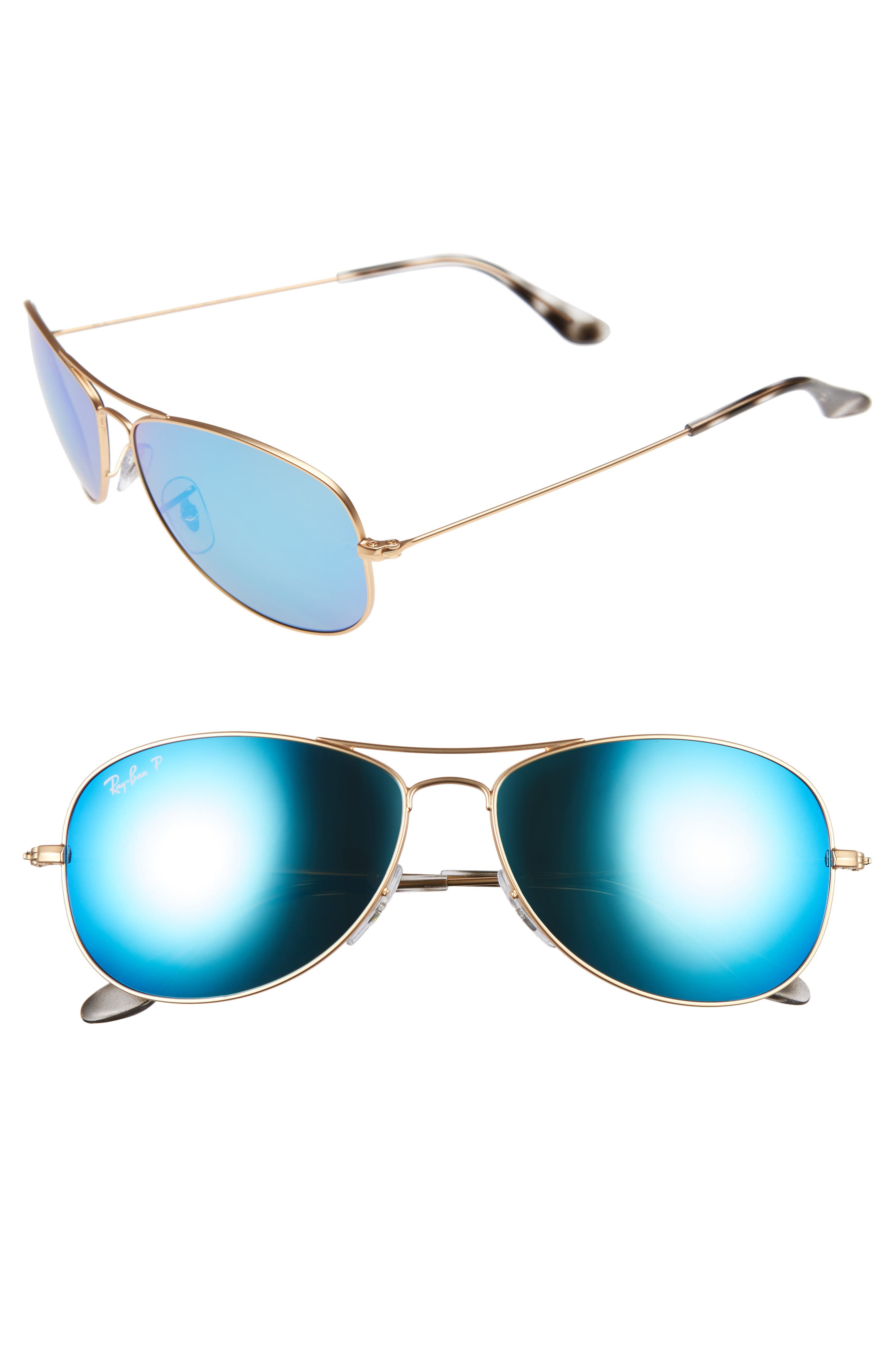 Tech 59mm Polarized Sunglasses,                             Alternate thumbnail 5, color,