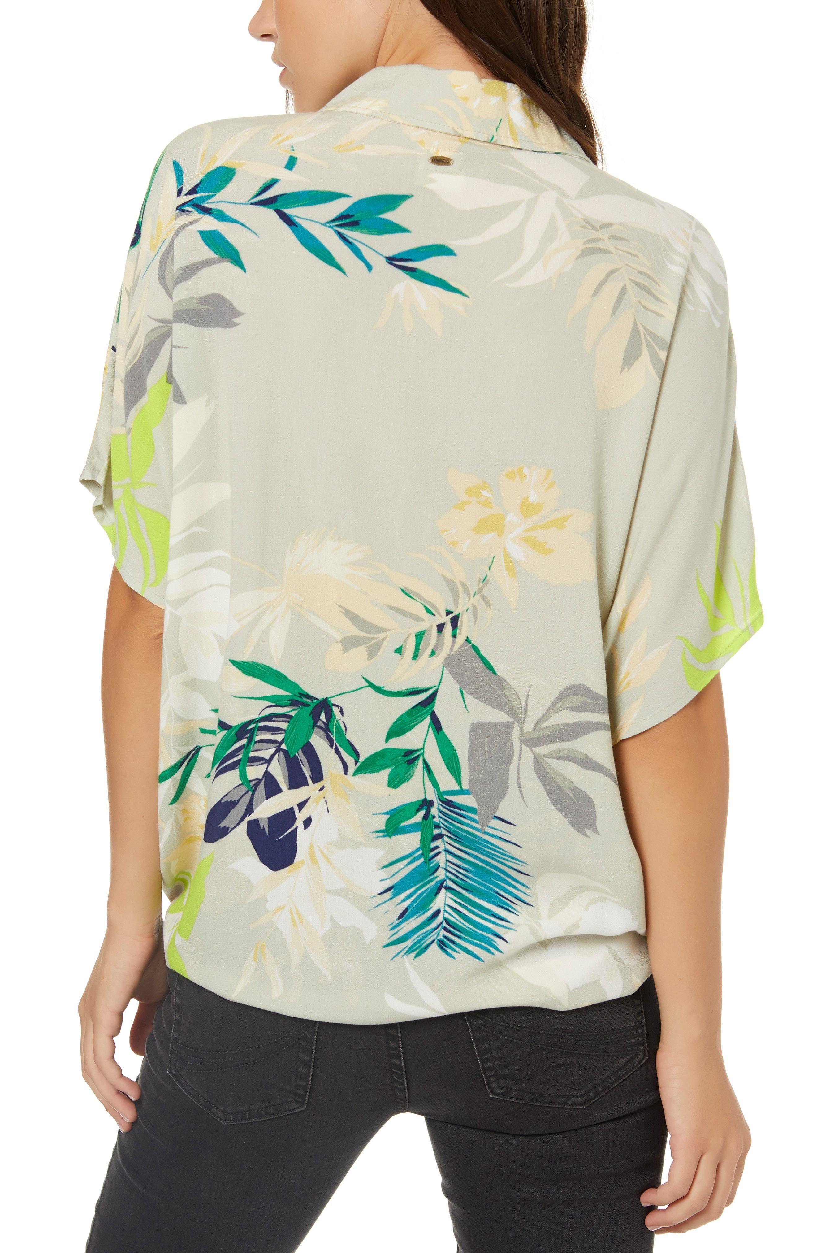 Moore Print Tie Front Shirt,                             Alternate thumbnail 2, color,                             020