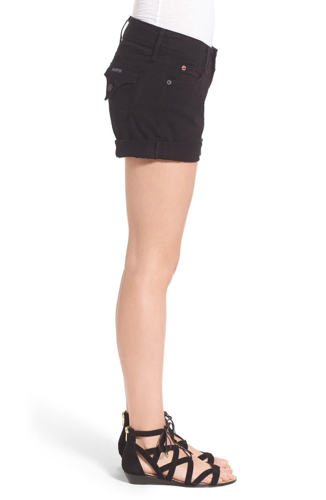 Croxley Cuffed Denim Shorts,                             Alternate thumbnail 2, color,                             001